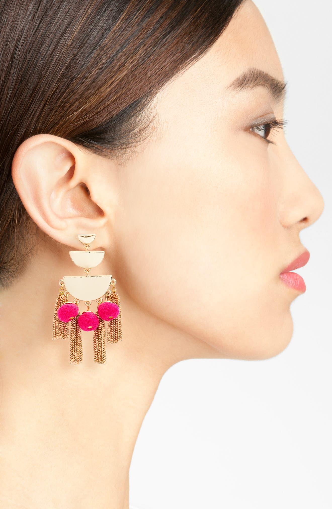 Alternate Image 2  - Rebecca Minkoff Triple Tier Chandelier Earrings