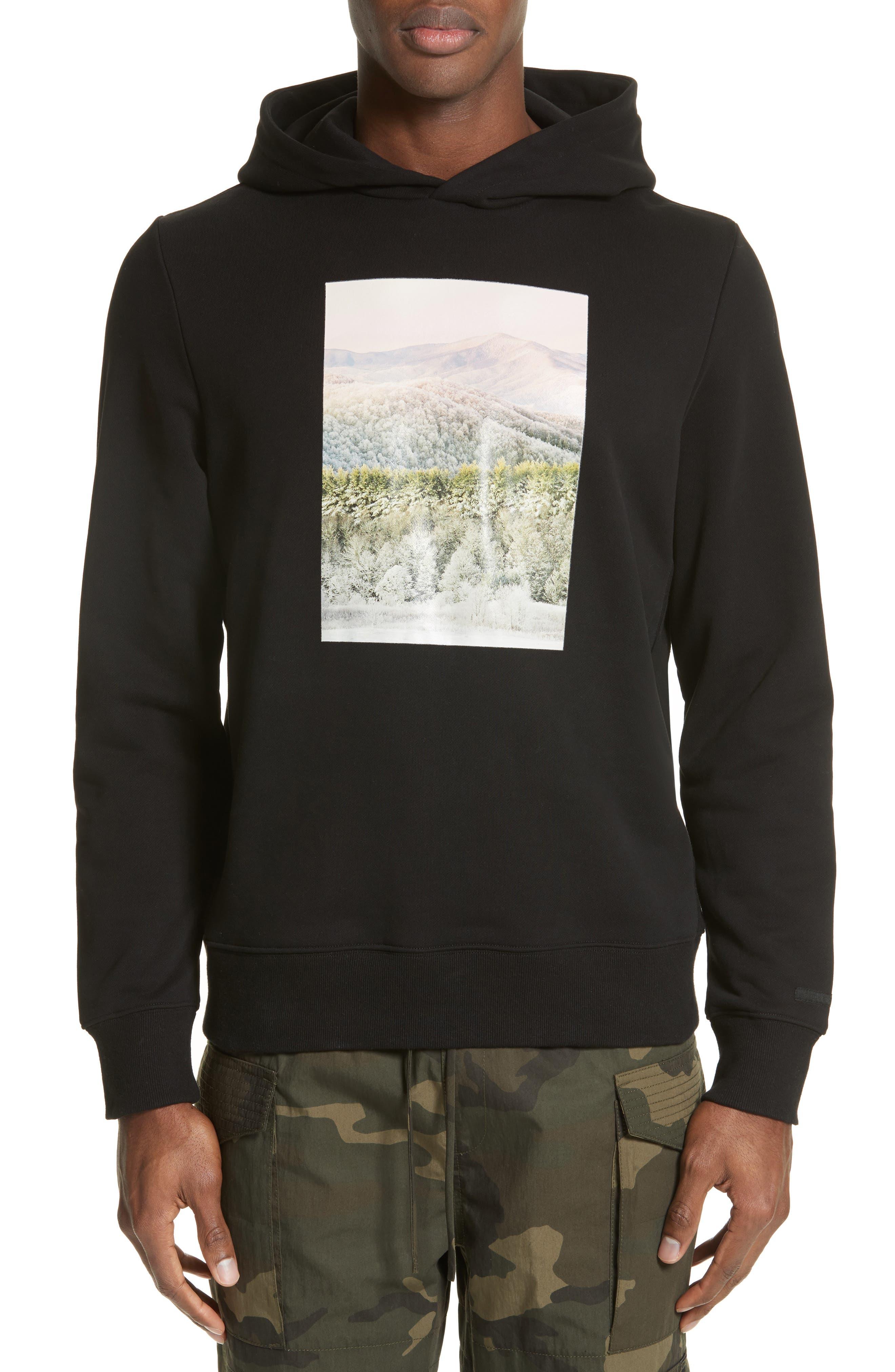 Appalachian Winter Graphic Hoodie,                         Main,                         color, Black
