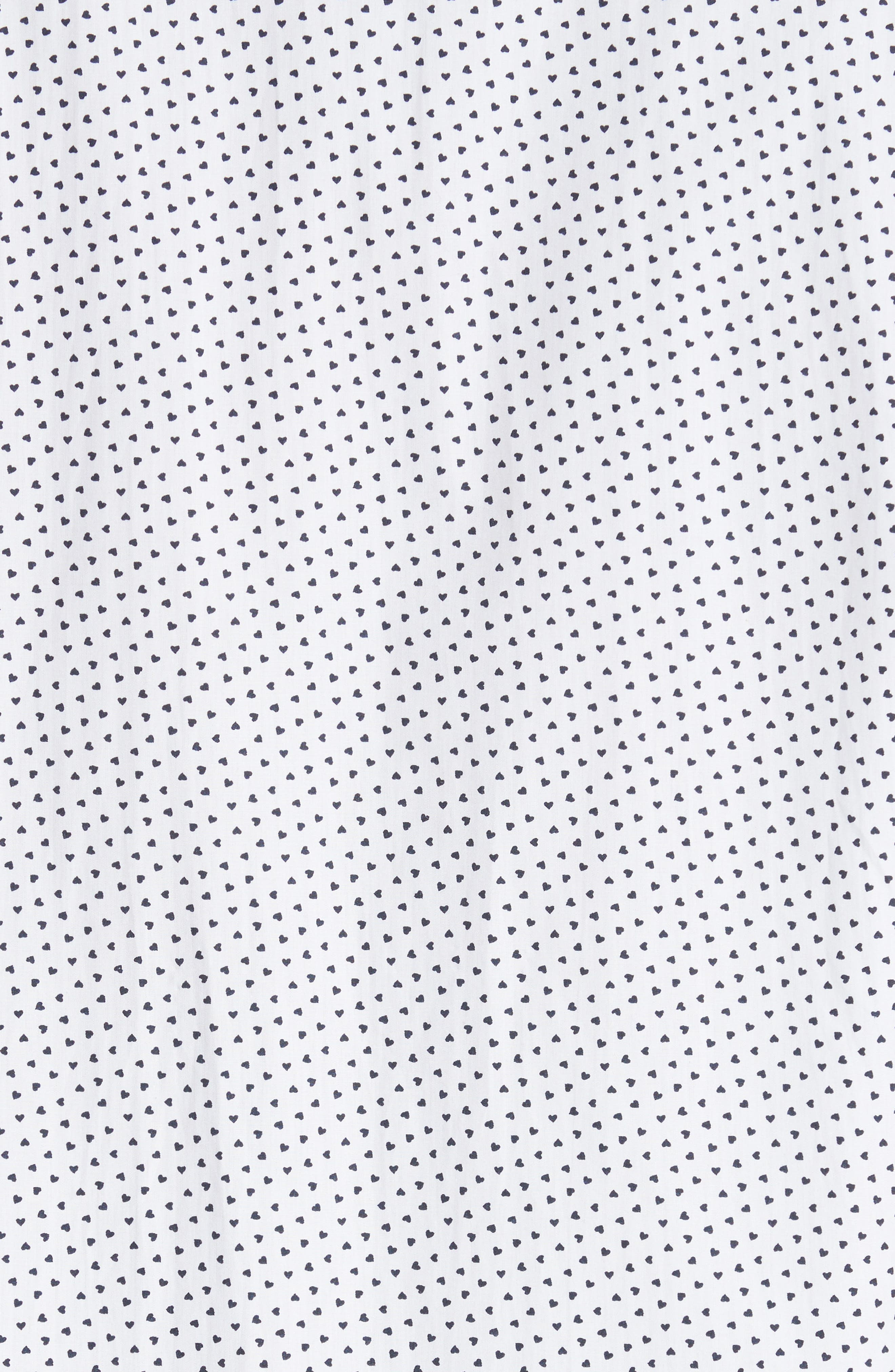 Heart Print Sport Shirt,                             Alternate thumbnail 5, color,                             White