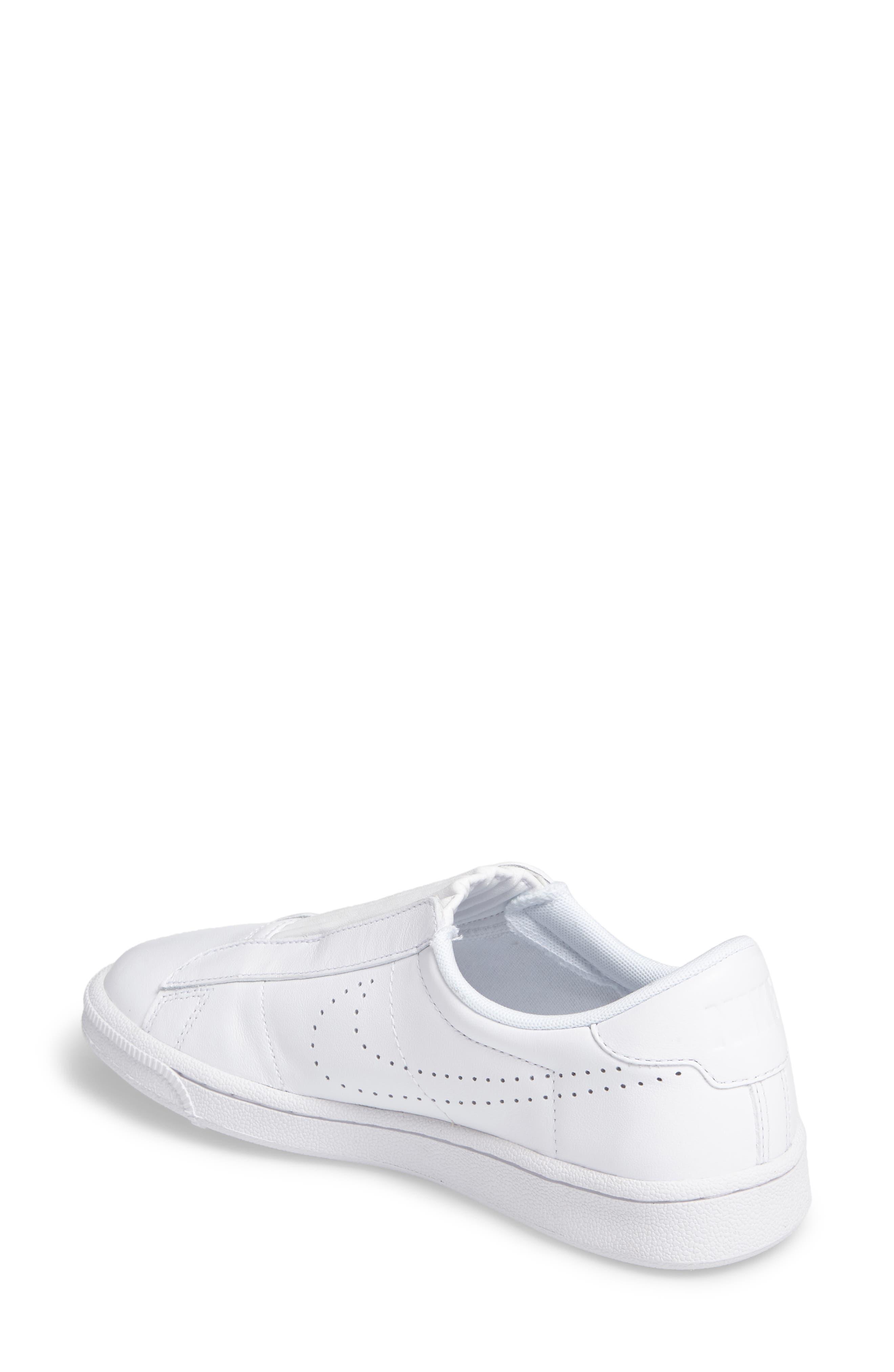 Classic EZ Slip-On Tennis Shoe,                             Alternate thumbnail 2, color,                             White/ White/ Black