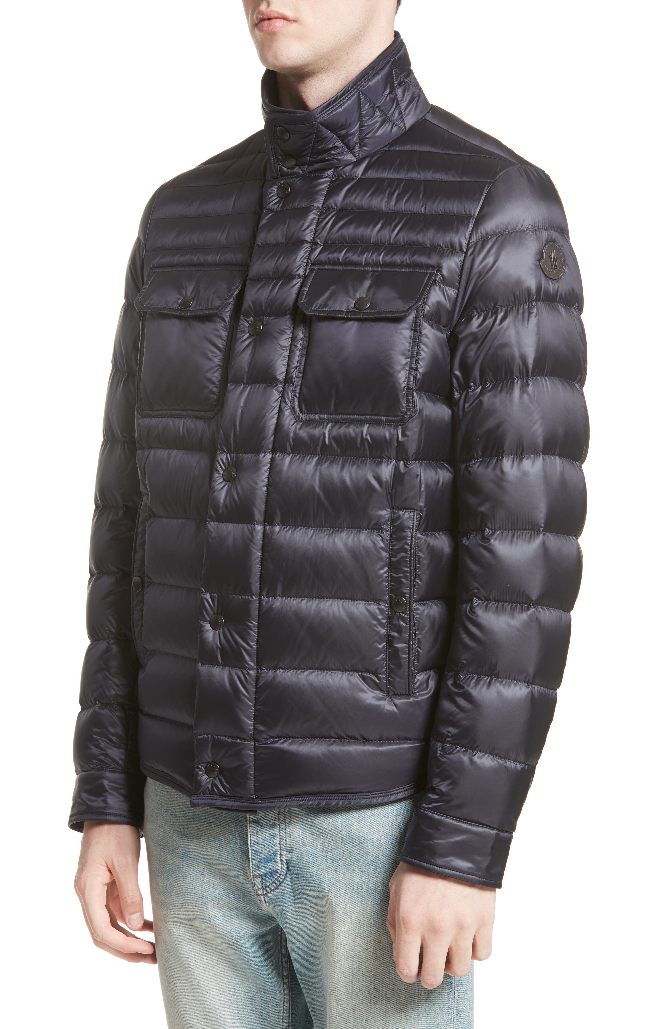 Main Image - Moncler Forbin Stand Collar Quilted Down Jacket