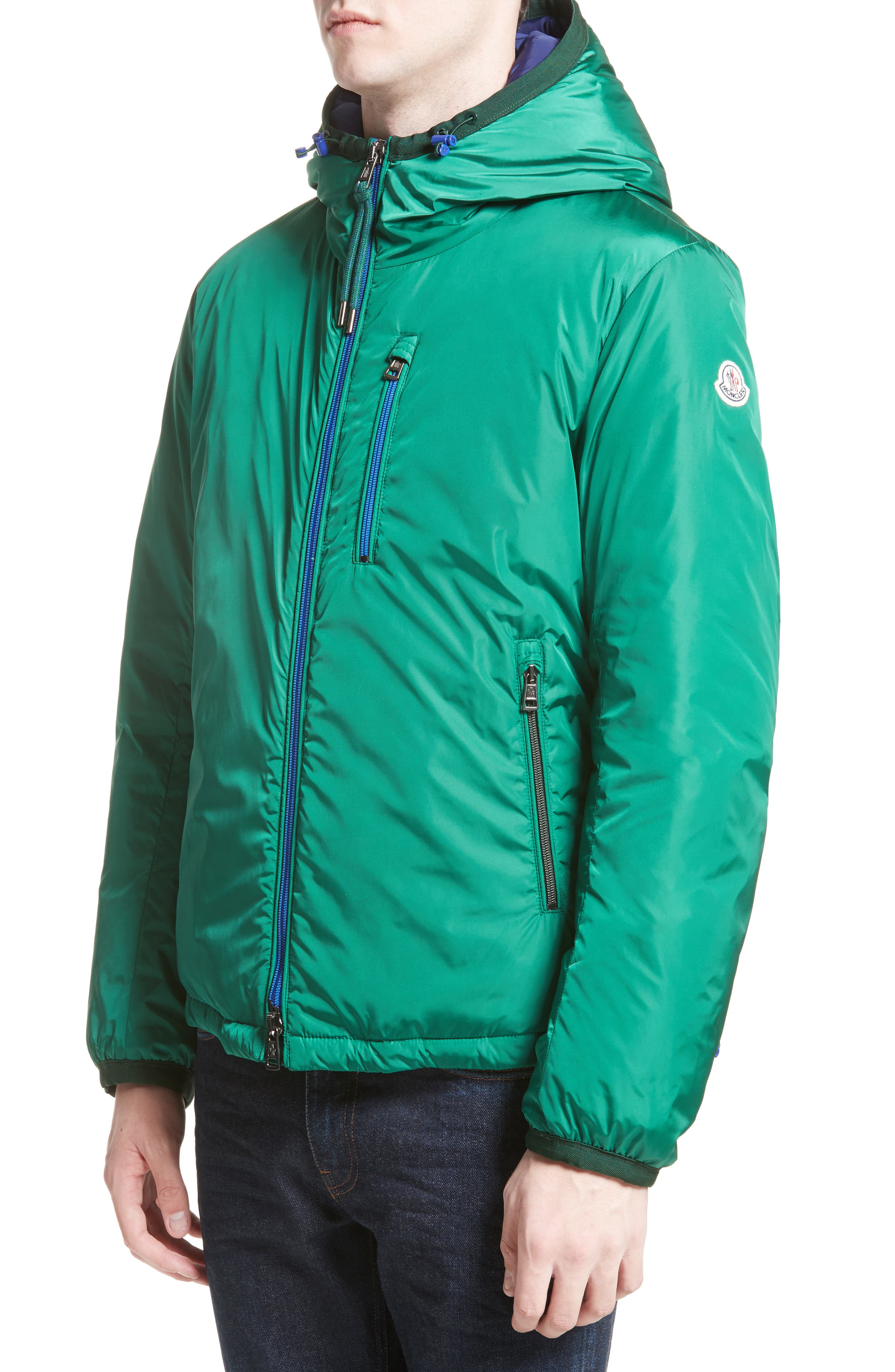 Guimet Hooded Down Jacket,                         Main,                         color, Forest Green