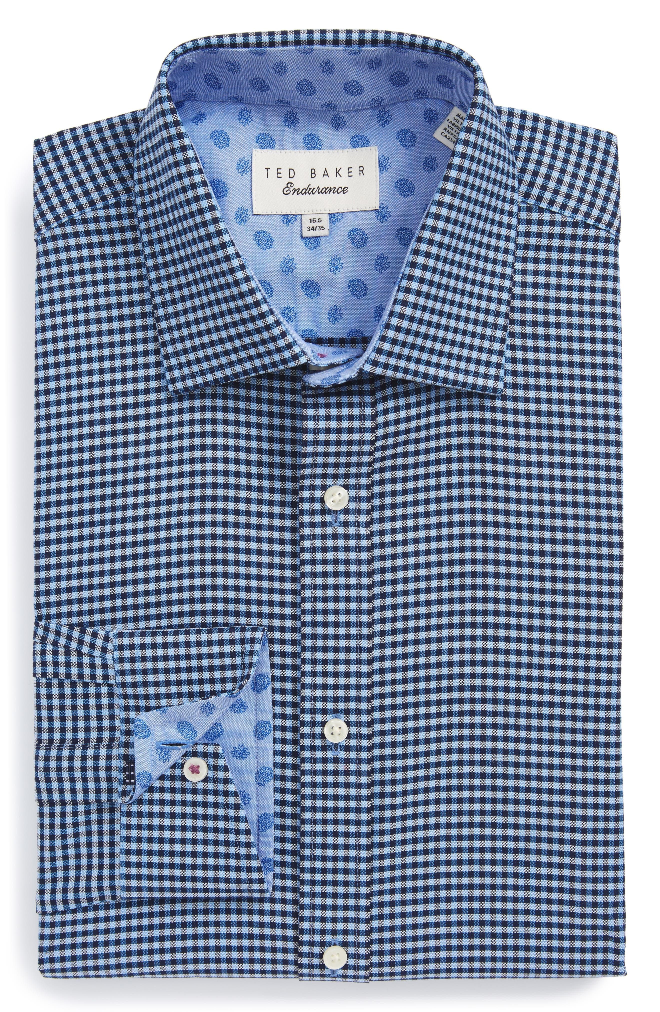 Endurance Sterling Trim Fit Dress Shirt,                         Main,                         color, Blue