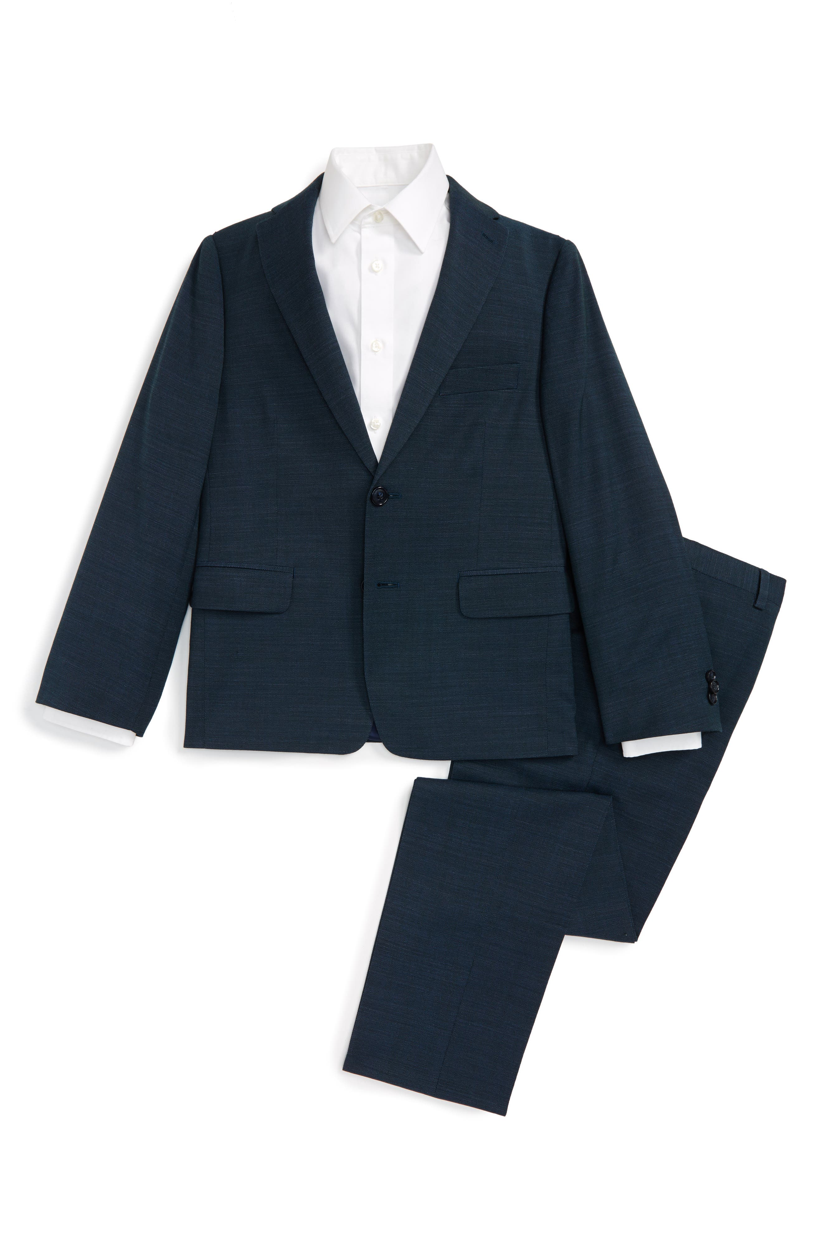 MICHAEL KORS Birds Eye Stretch Wool Suit