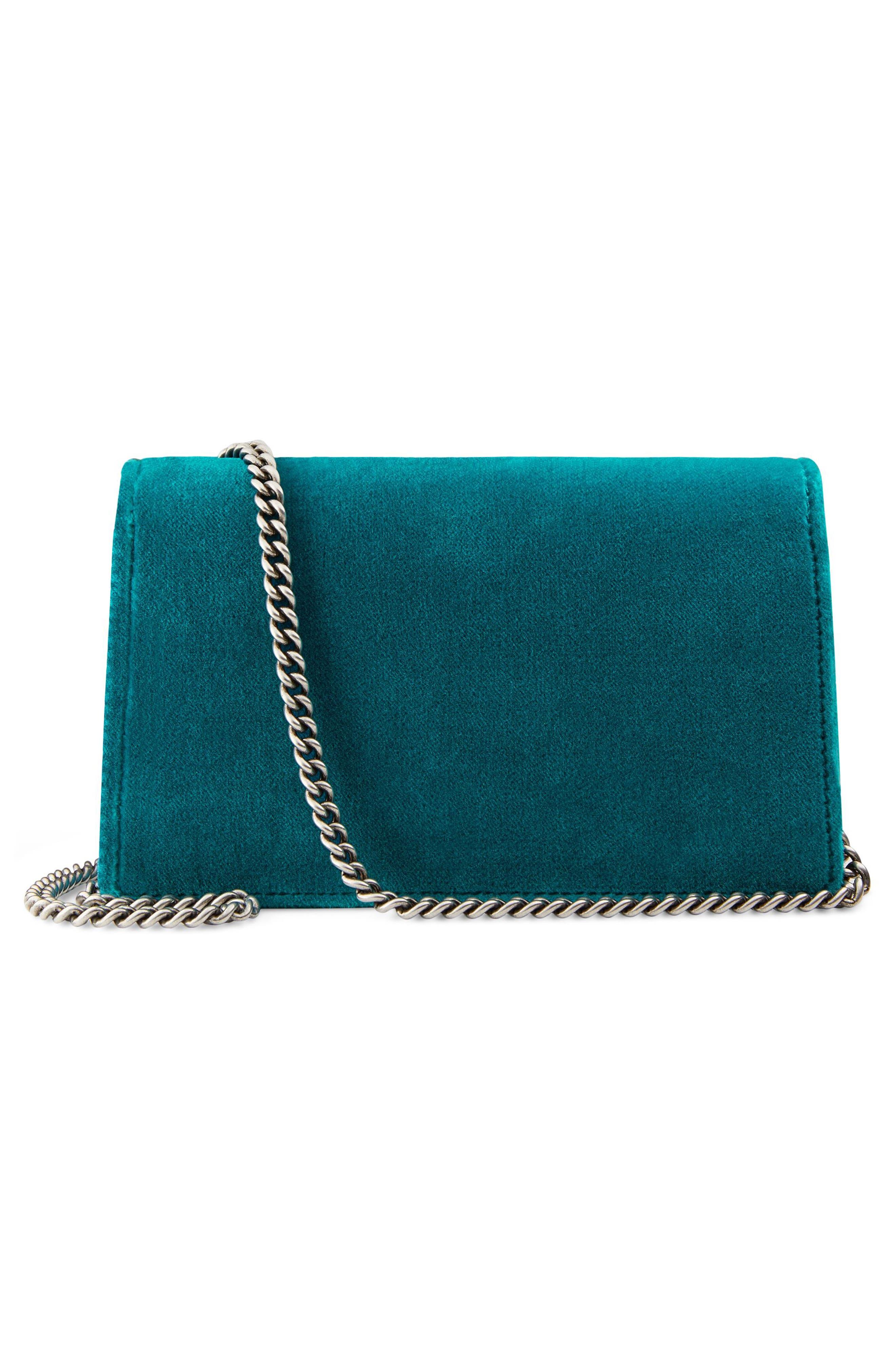 Alternate Image 2  - Gucci Super Mini Dionysus Velvet Shoulder Bag