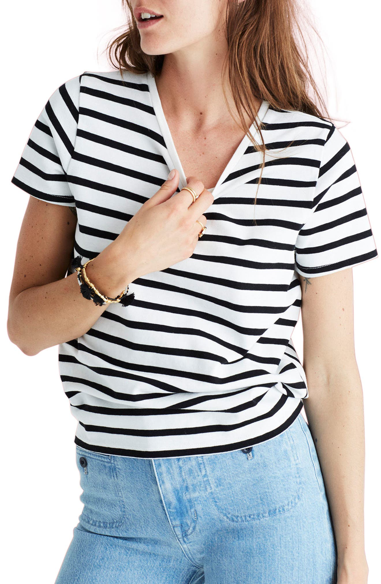 Main Image - Madewell Stripe Tie Back Tee