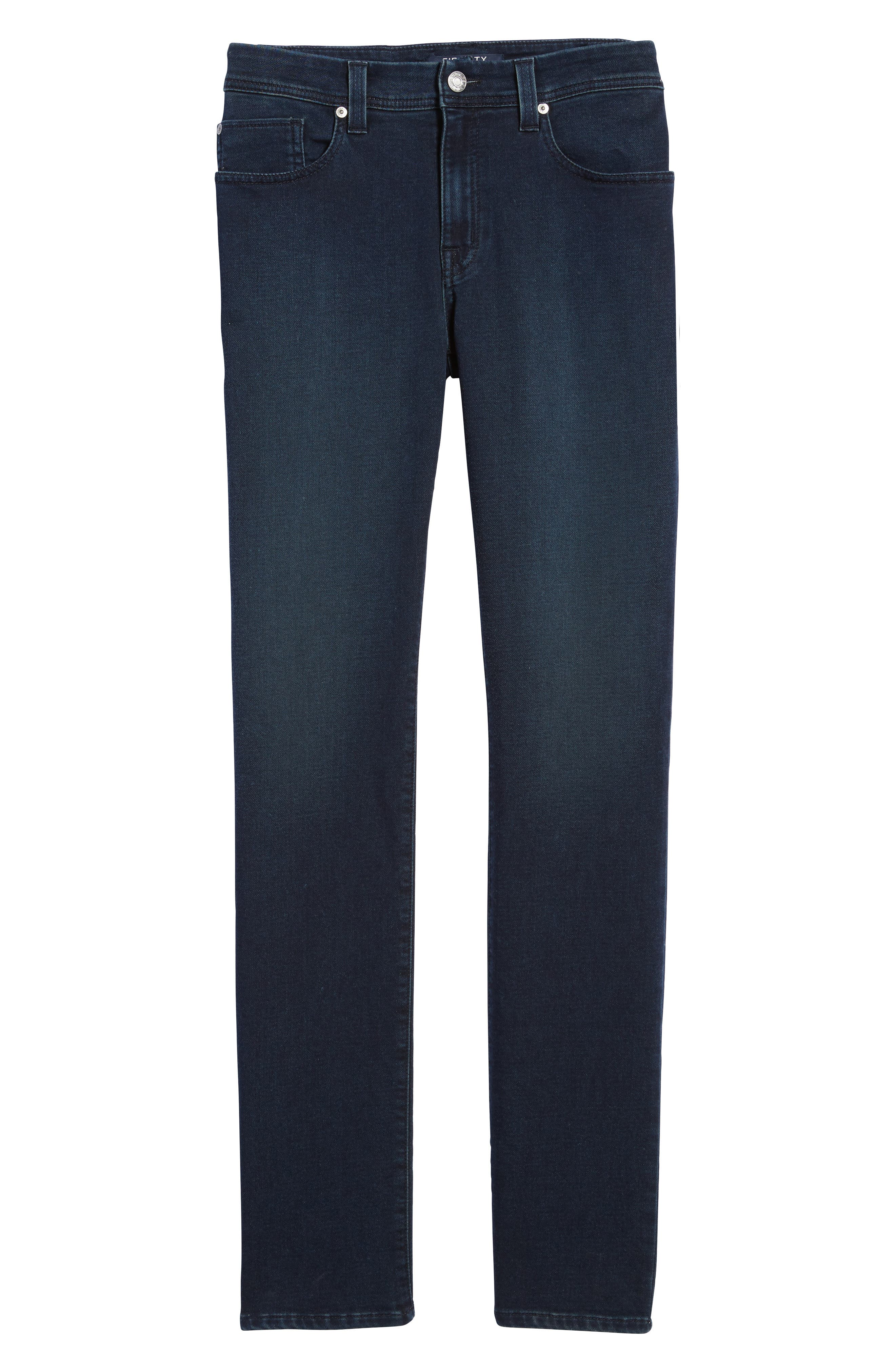 Jimmy Slim Straight Leg Jeans,                             Alternate thumbnail 7, color,                             Oxy Midnight