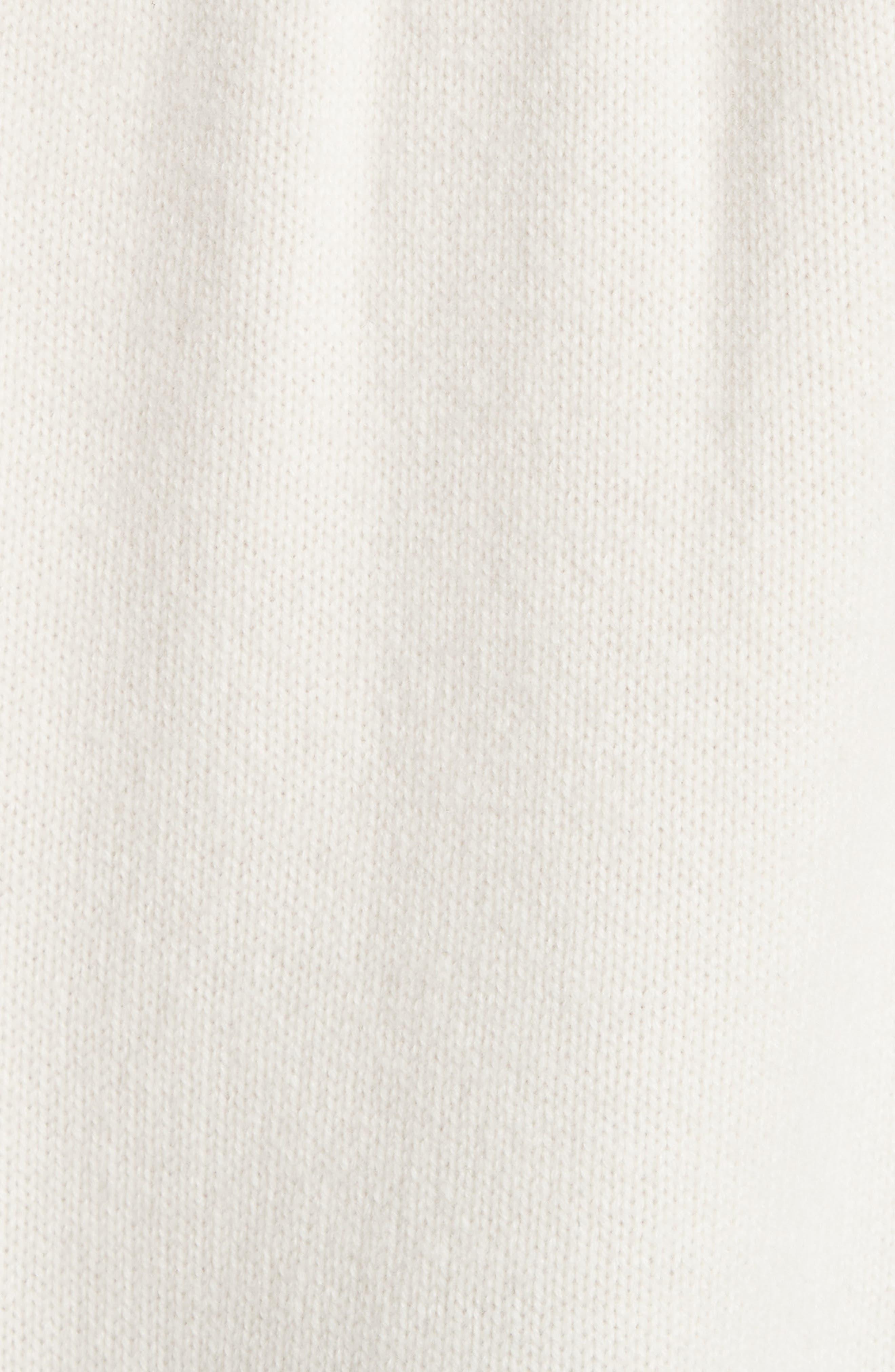 Rib Knit Cashmere Tunic Sweater,                             Alternate thumbnail 3, color,                             Ivory