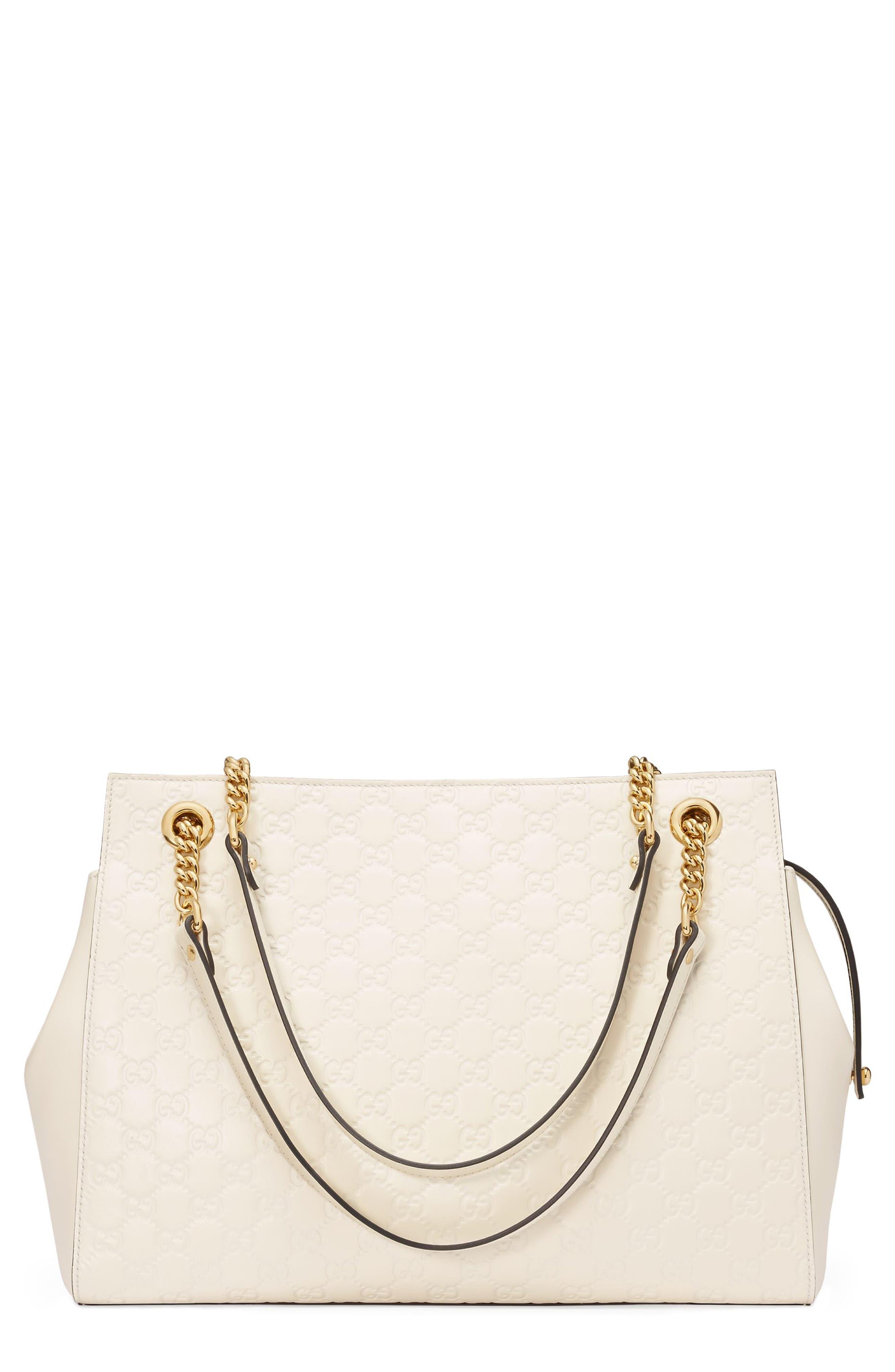 Gucci Large Signature Leather Shoulder Bag