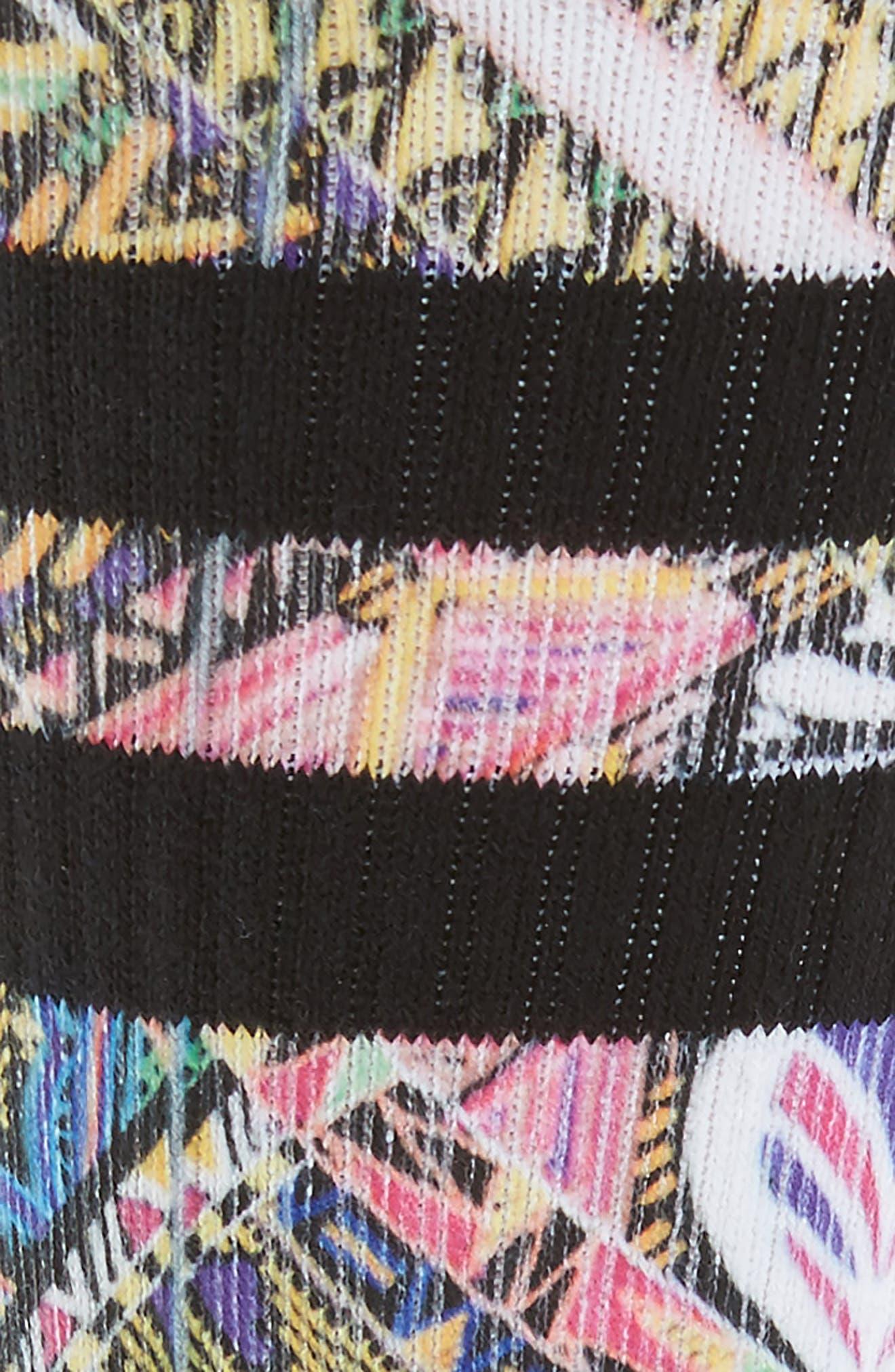 Xalapa Crew Socks,                             Alternate thumbnail 2, color,                             Black