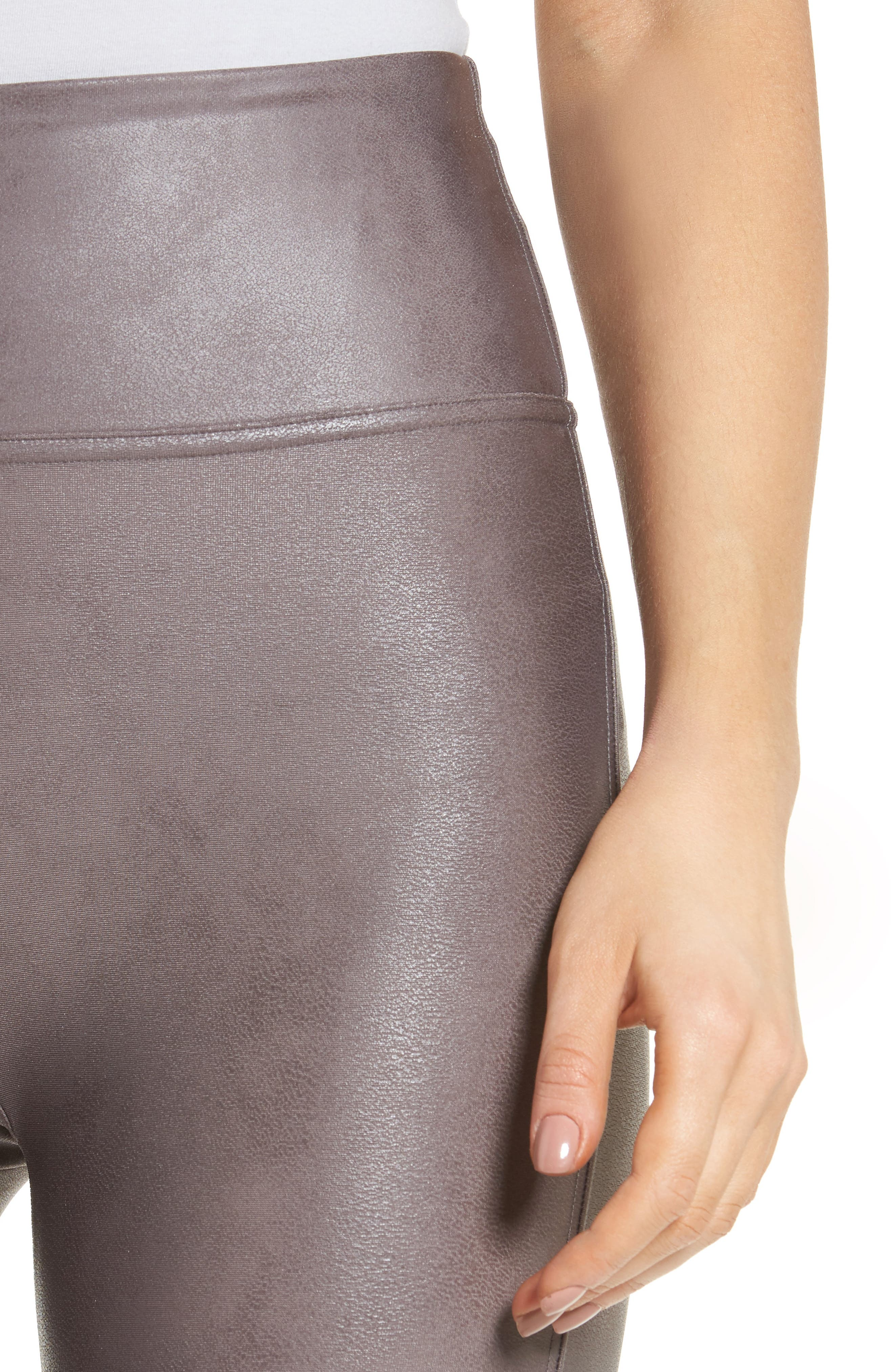 Alternate Image 5  - SPANX® Faux Leather Leggings