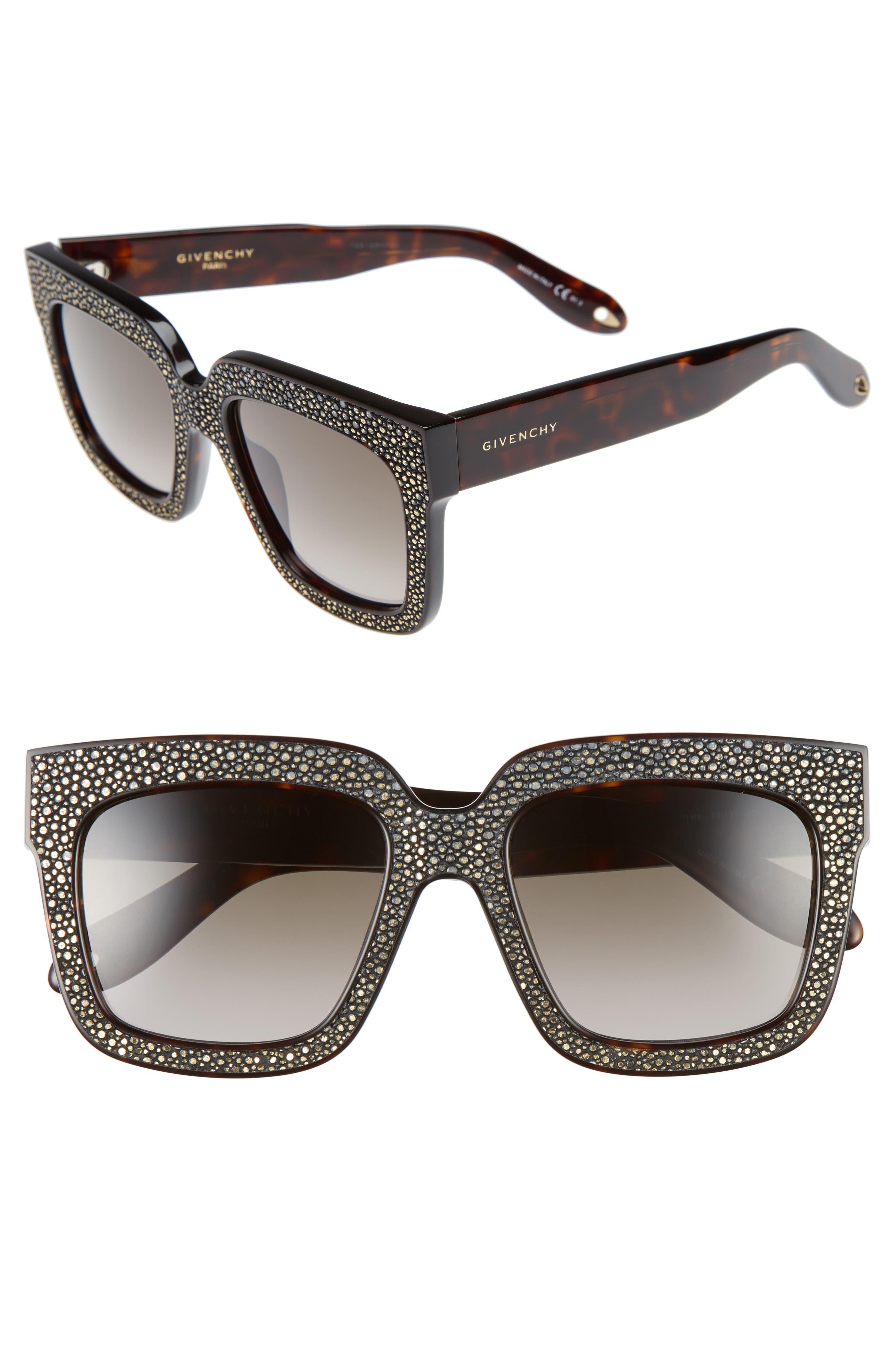 53mm Square Sunglasses,                         Main,                         color, Gold