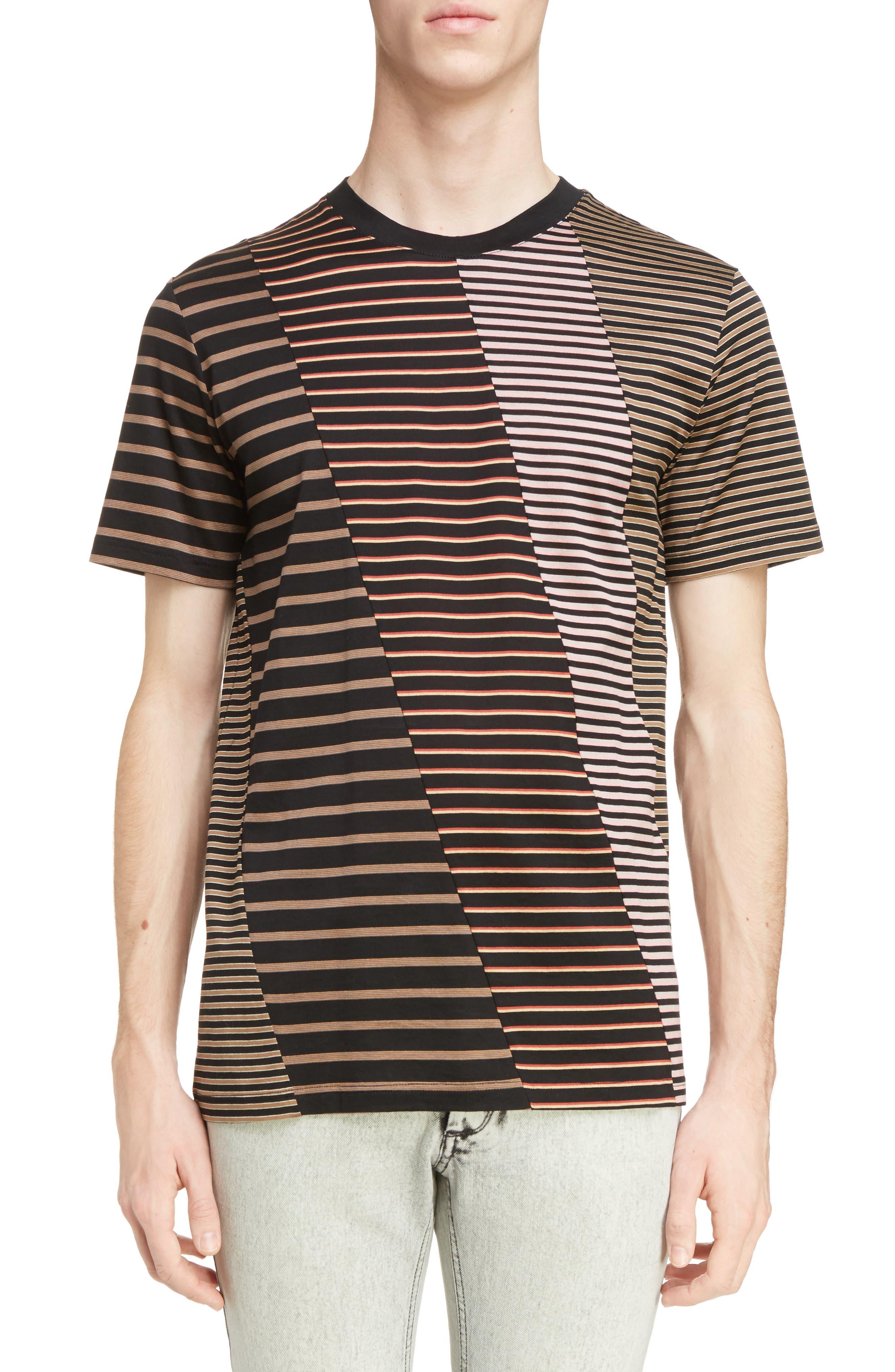 Lanvin Multistripe Patchwork T-Shirt