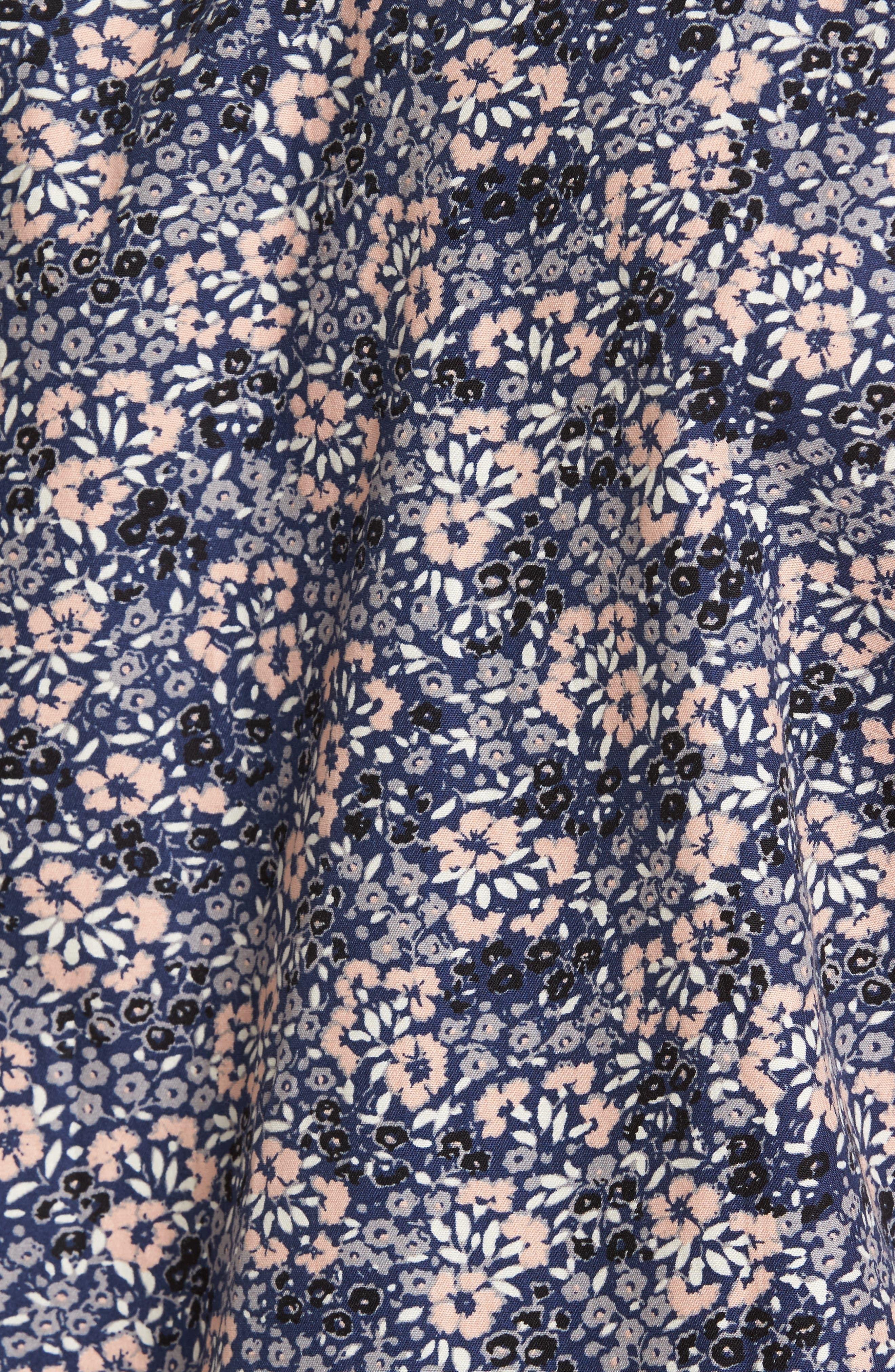 Poplin Floral Shirt,                             Alternate thumbnail 5, color,                             Navy Peacoat Simple Floral