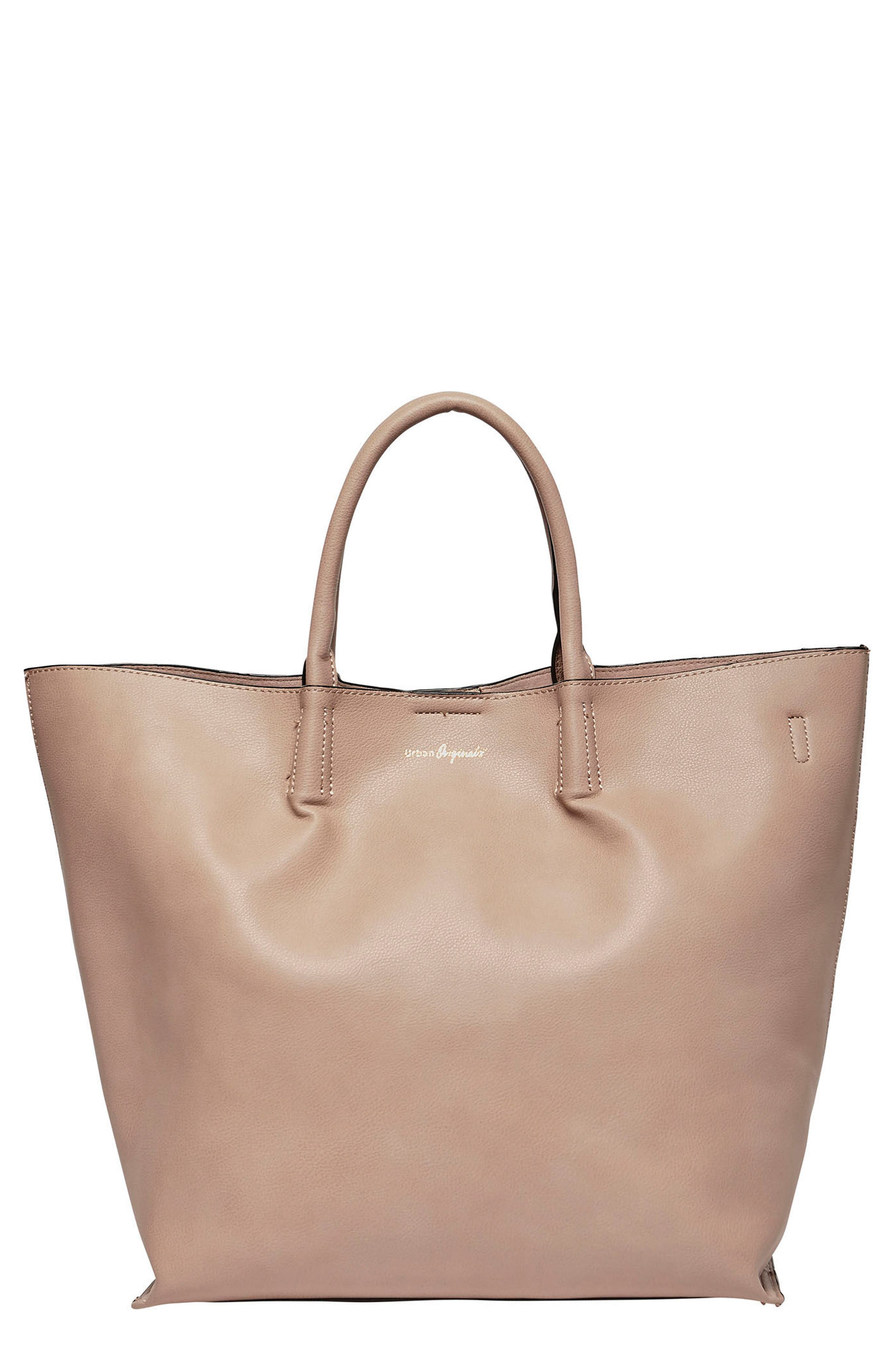 Butterfly Vegan Leather Tote,                         Main,                         color, Nude