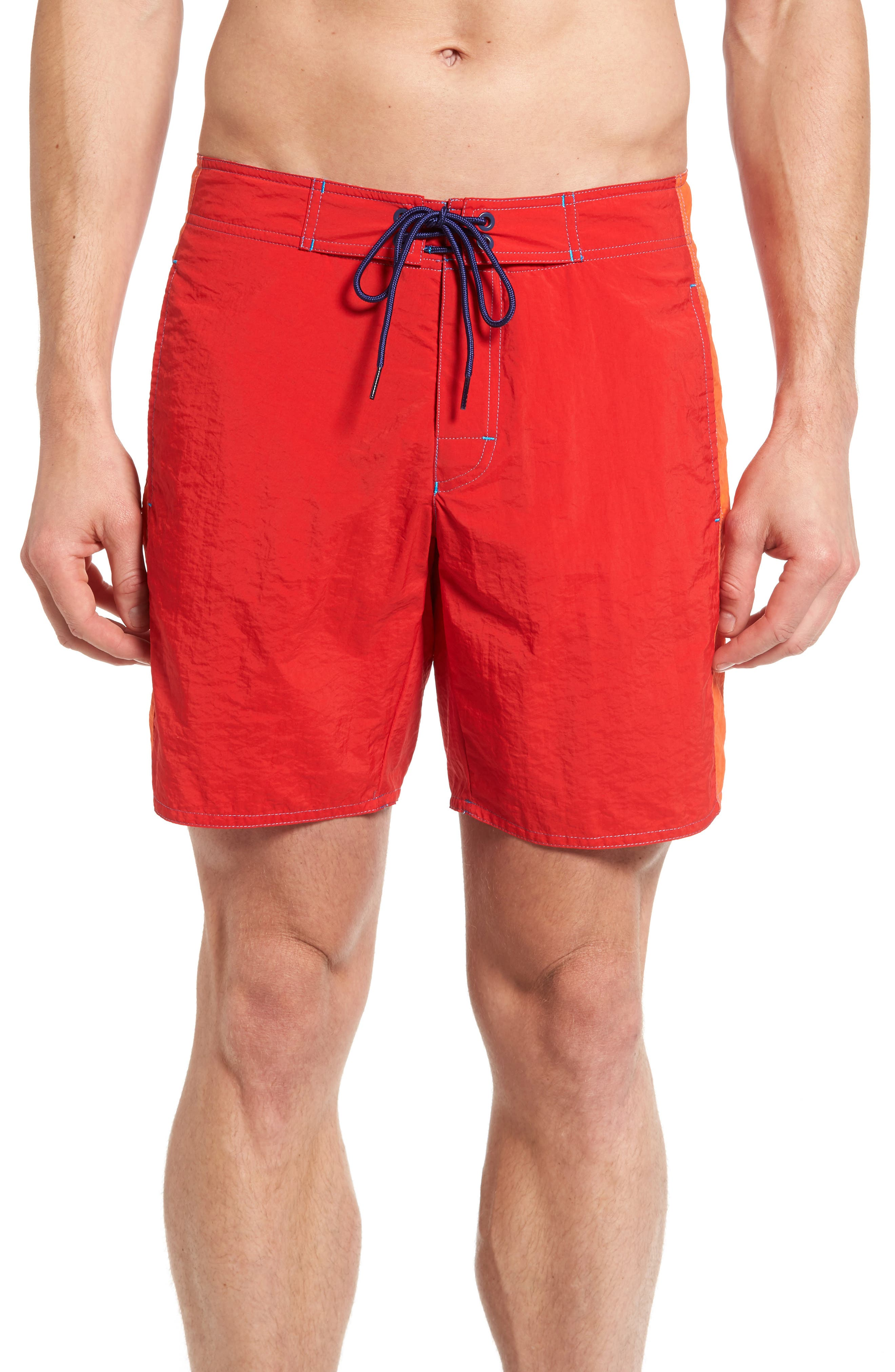 Acer Swim Trunks,                         Main,                         color, Red