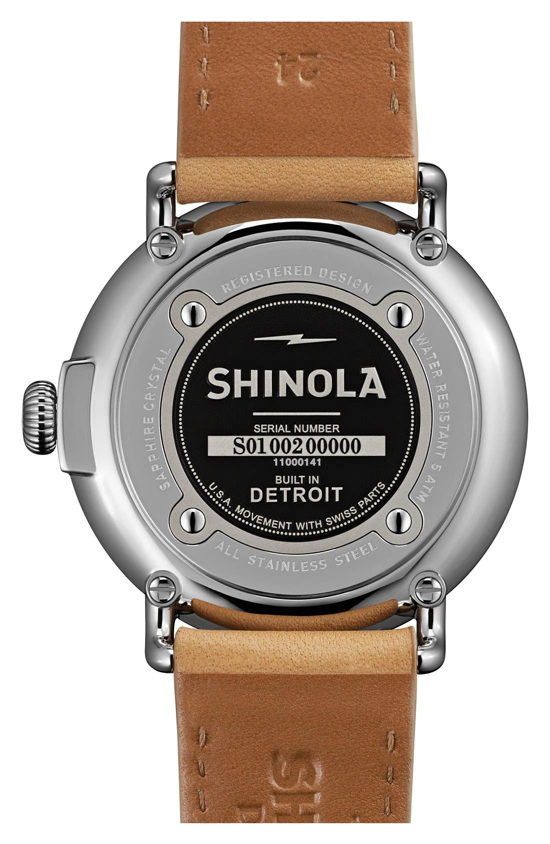 built what watches runwell shinola of in watch parts the faced detroit glow dark white are