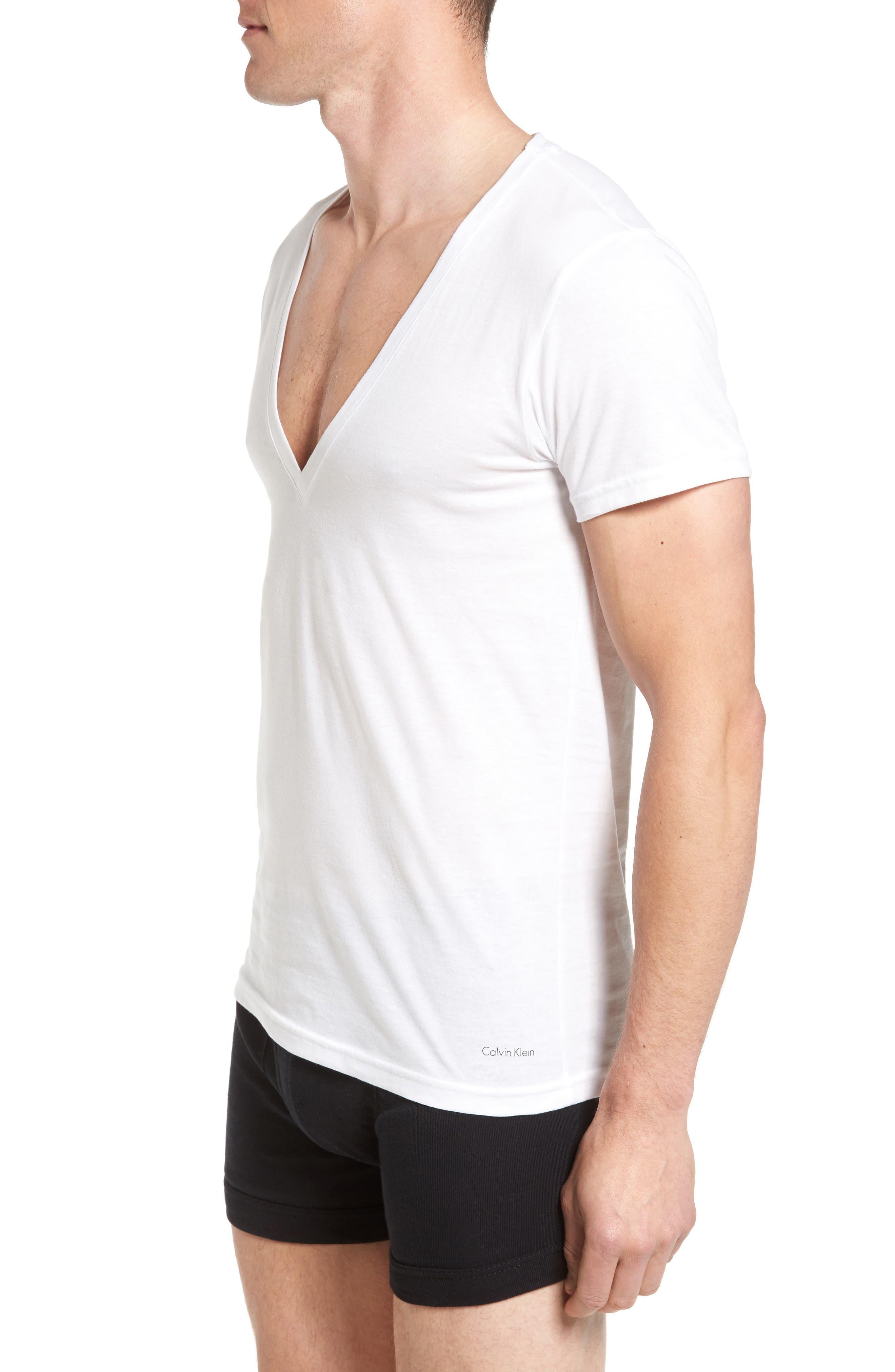 2-Pack V-Neck T-Shirt,                             Alternate thumbnail 3, color,                             White