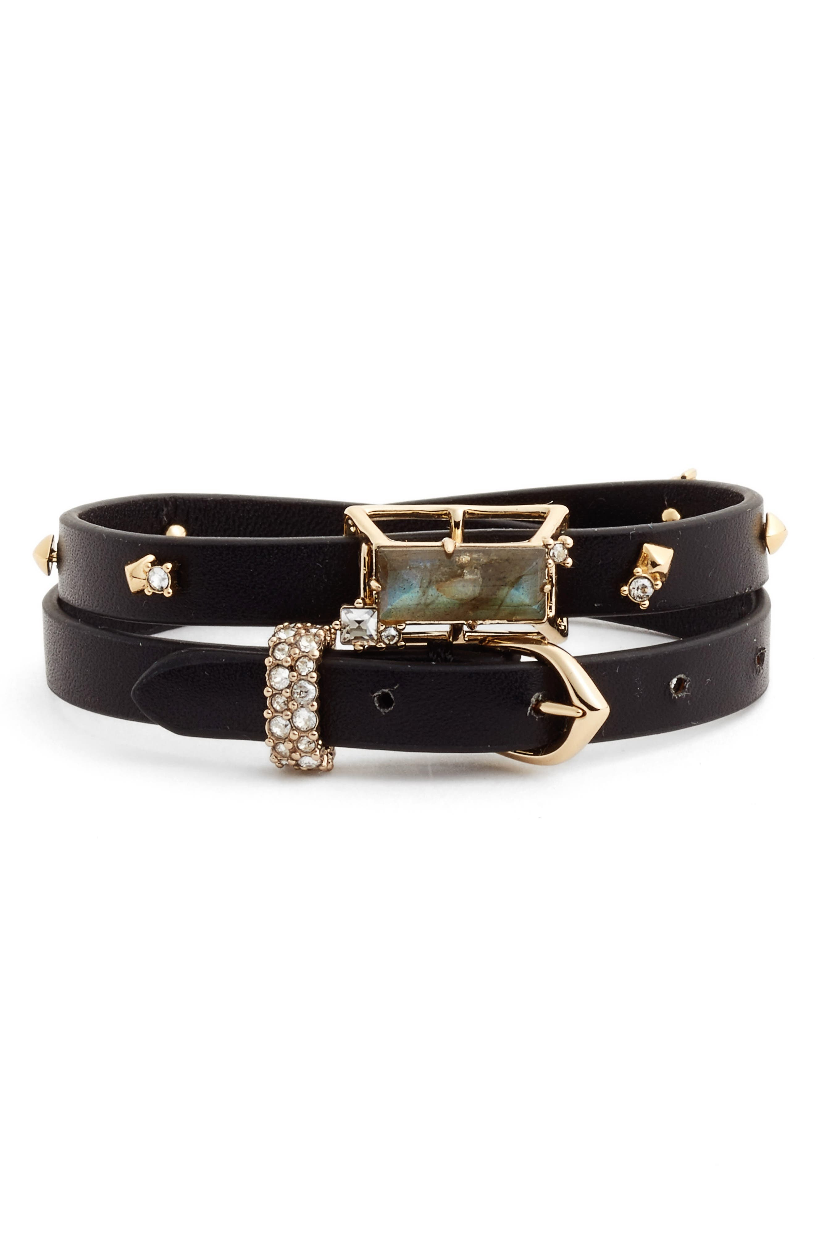 ALEXIS BITTAR Geo Leather Wrap Bracelet & Choker
