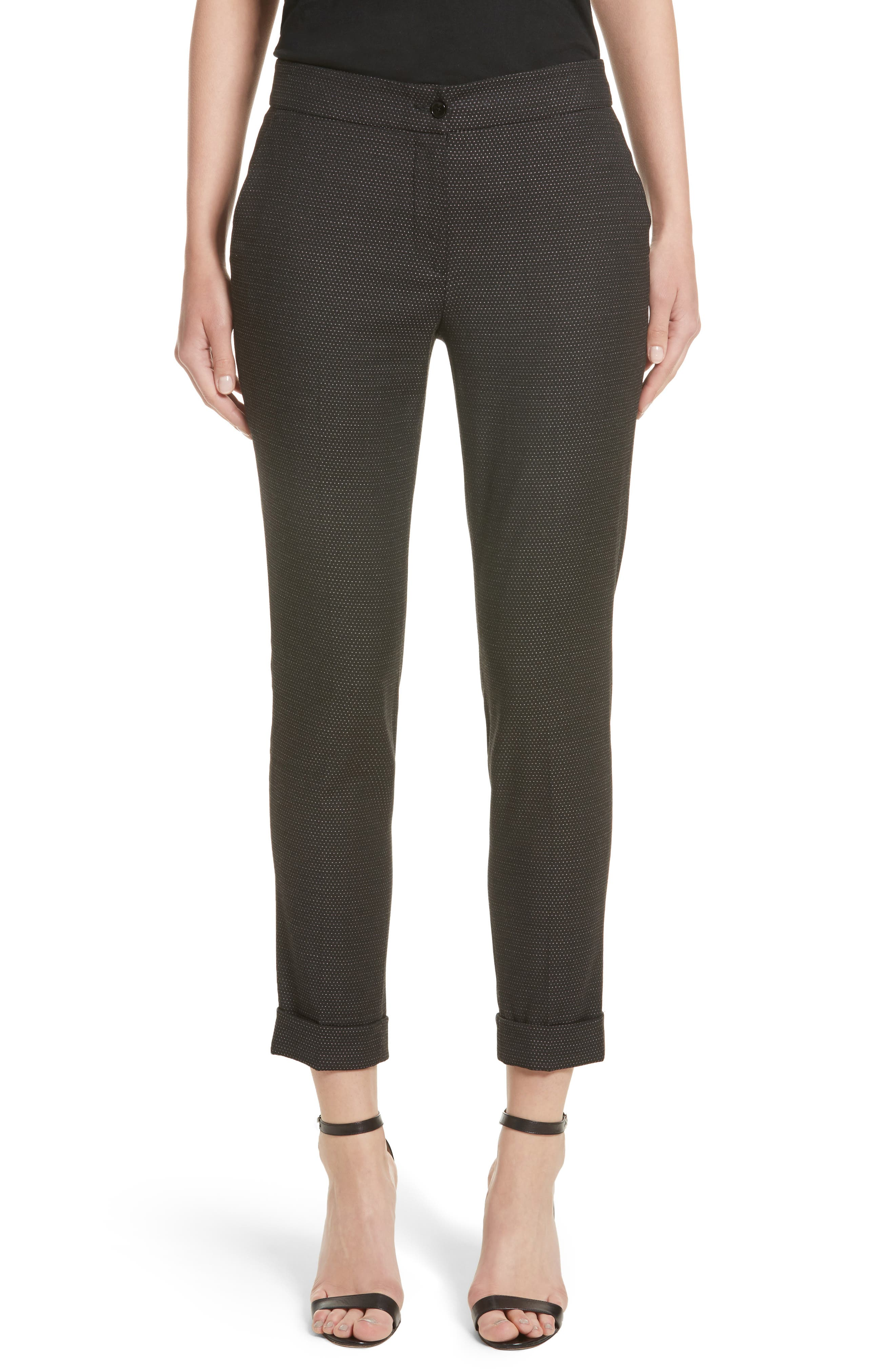 Alternate Image 1 Selected - Etro Dot Wool Blend Crop Pants