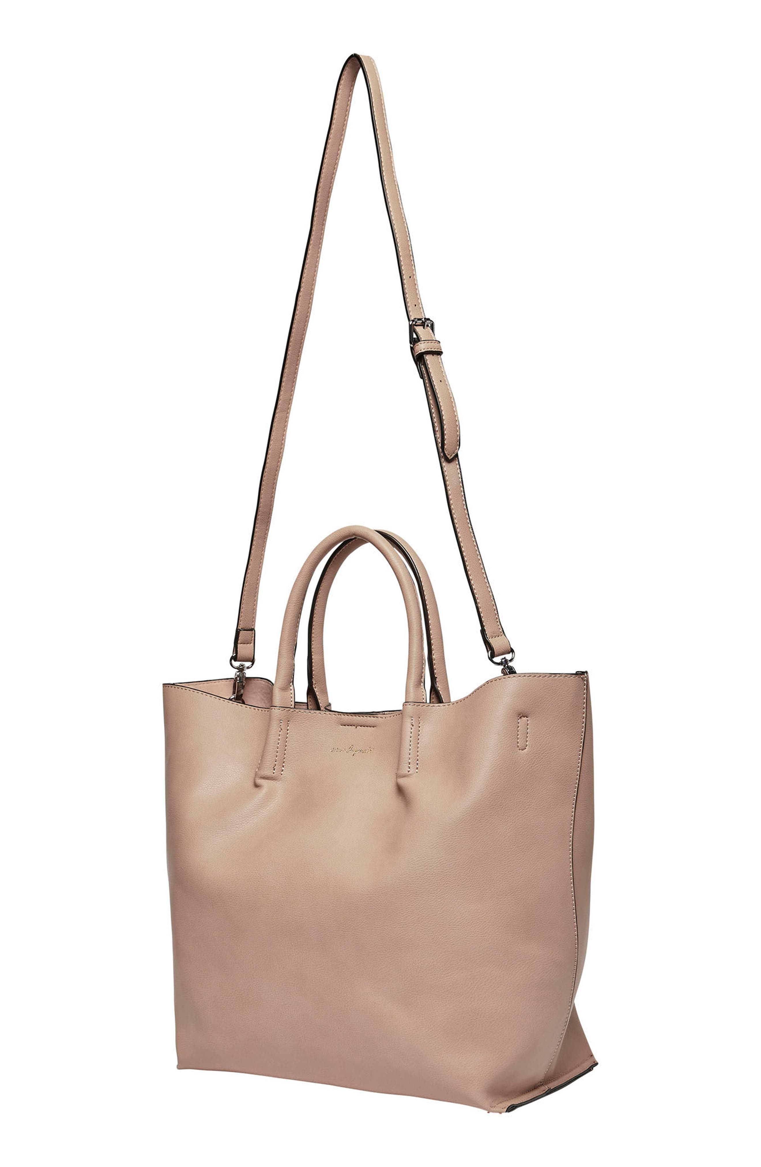 Butterfly Vegan Leather Tote,                             Alternate thumbnail 2, color,                             Nude