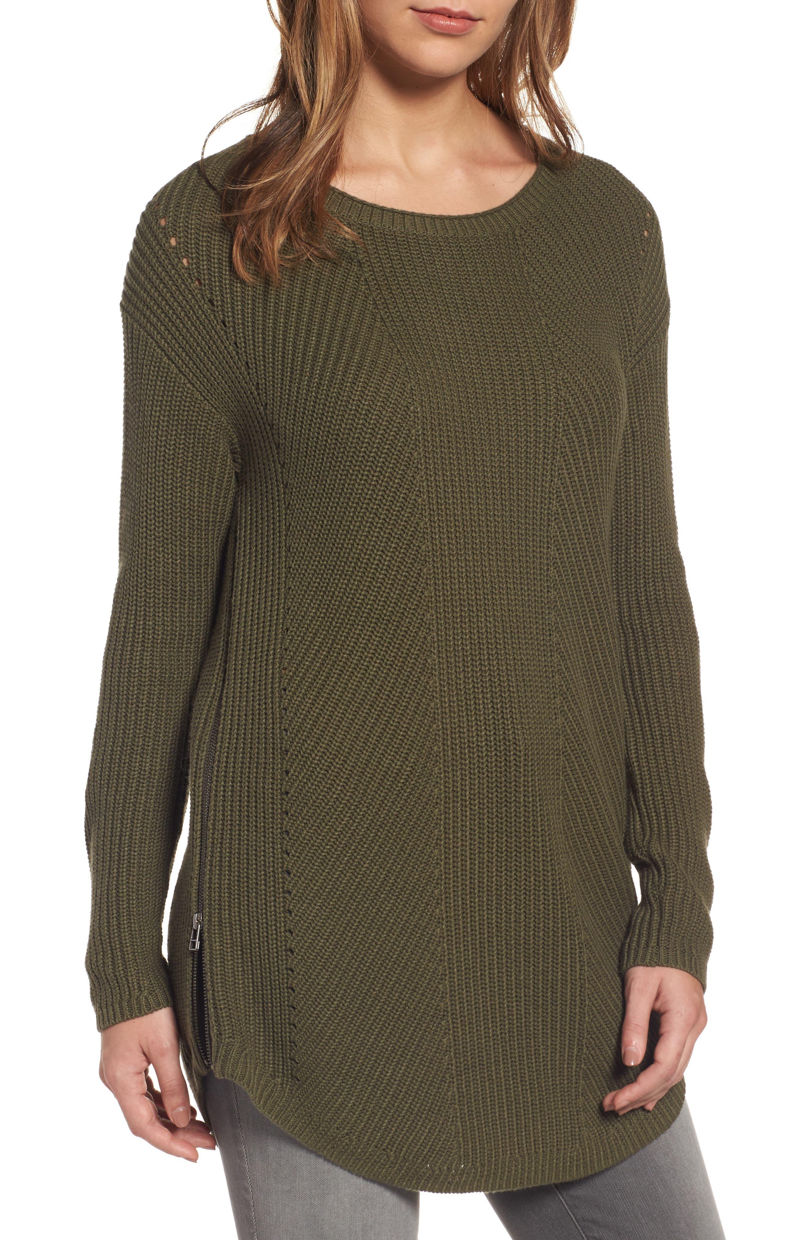 Caslon® Rib Knit Cotton Tunic