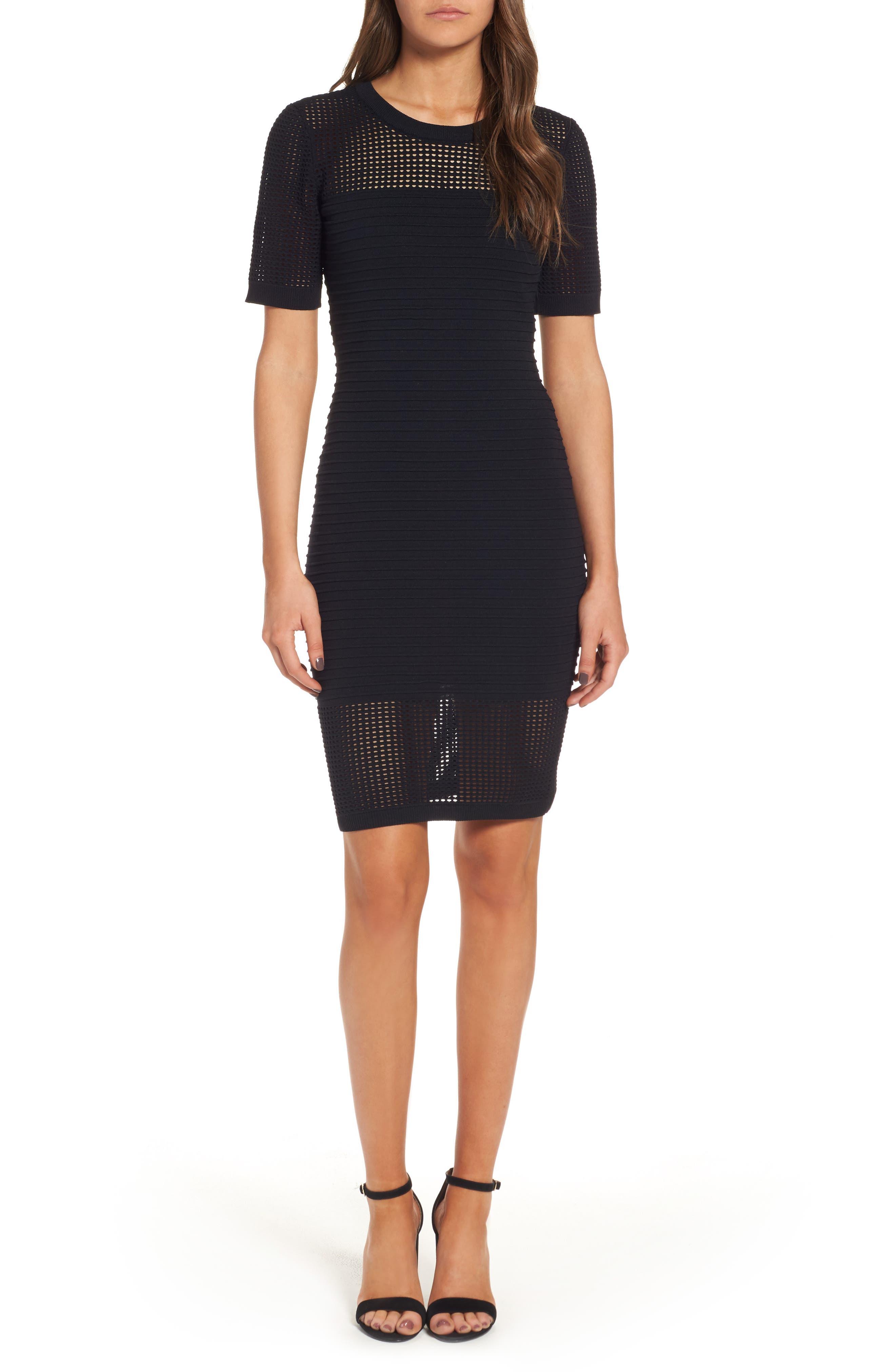 Sentimental NY Open Weave Body-Con Dress