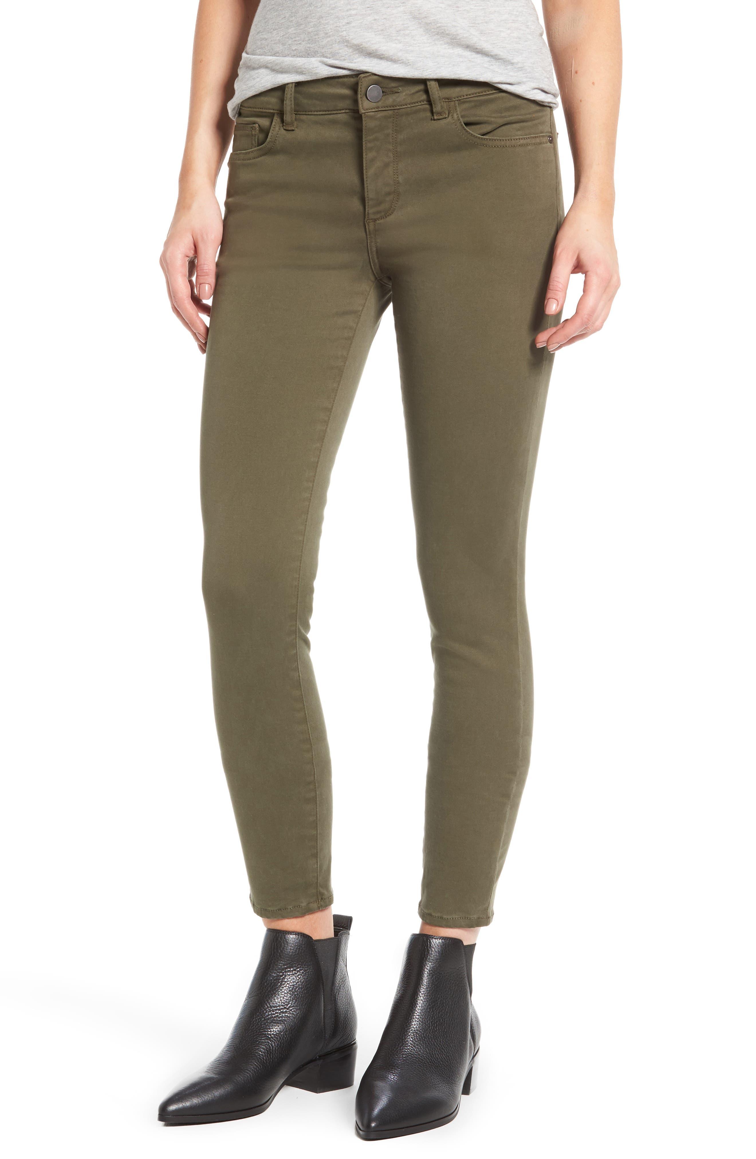 Alternate Image 1 Selected - DL1961 Margaux Instasculpt Ankle Skinny Jeans (Clover)