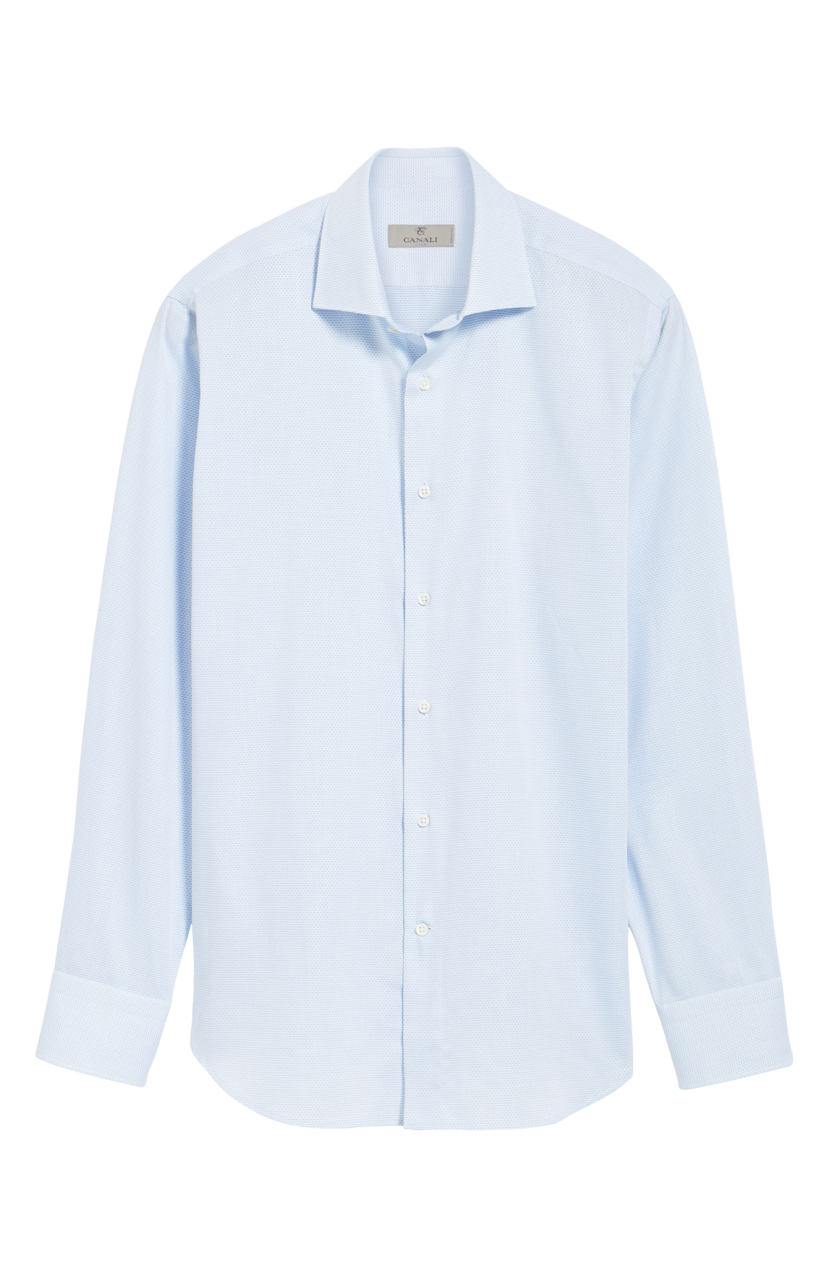 Alternate Image 5  - Canali Regular Fit Solid Dress Shirt