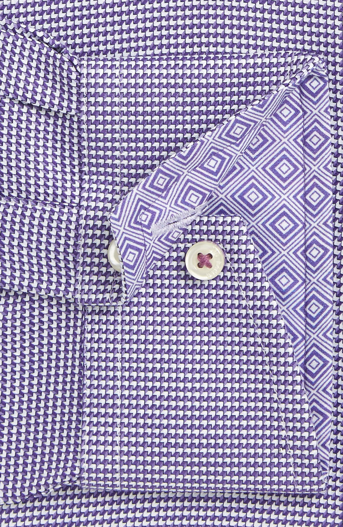Alternate Image 4  - Ted Baker London Chimy Trim Fit Geometric Dress Shirt