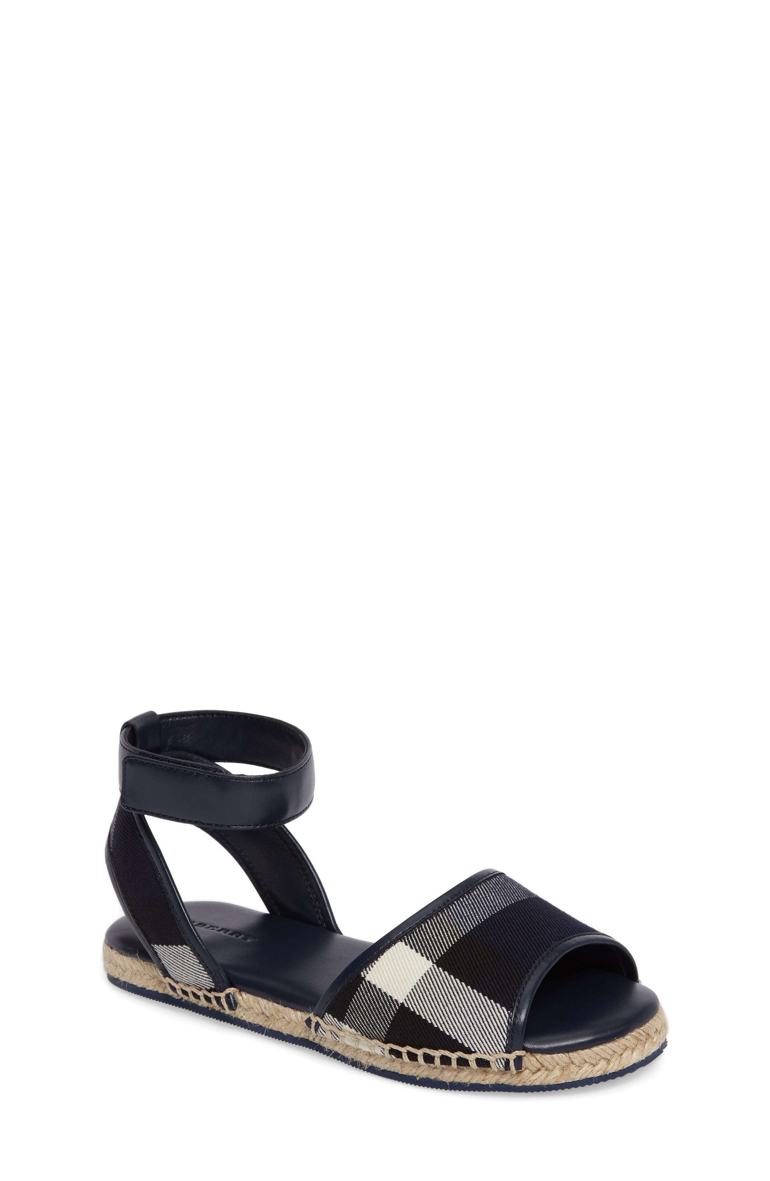 Main Image - Burberry Livvy Ankle Strap Sandal (Walker, Toddler & Little Kid)