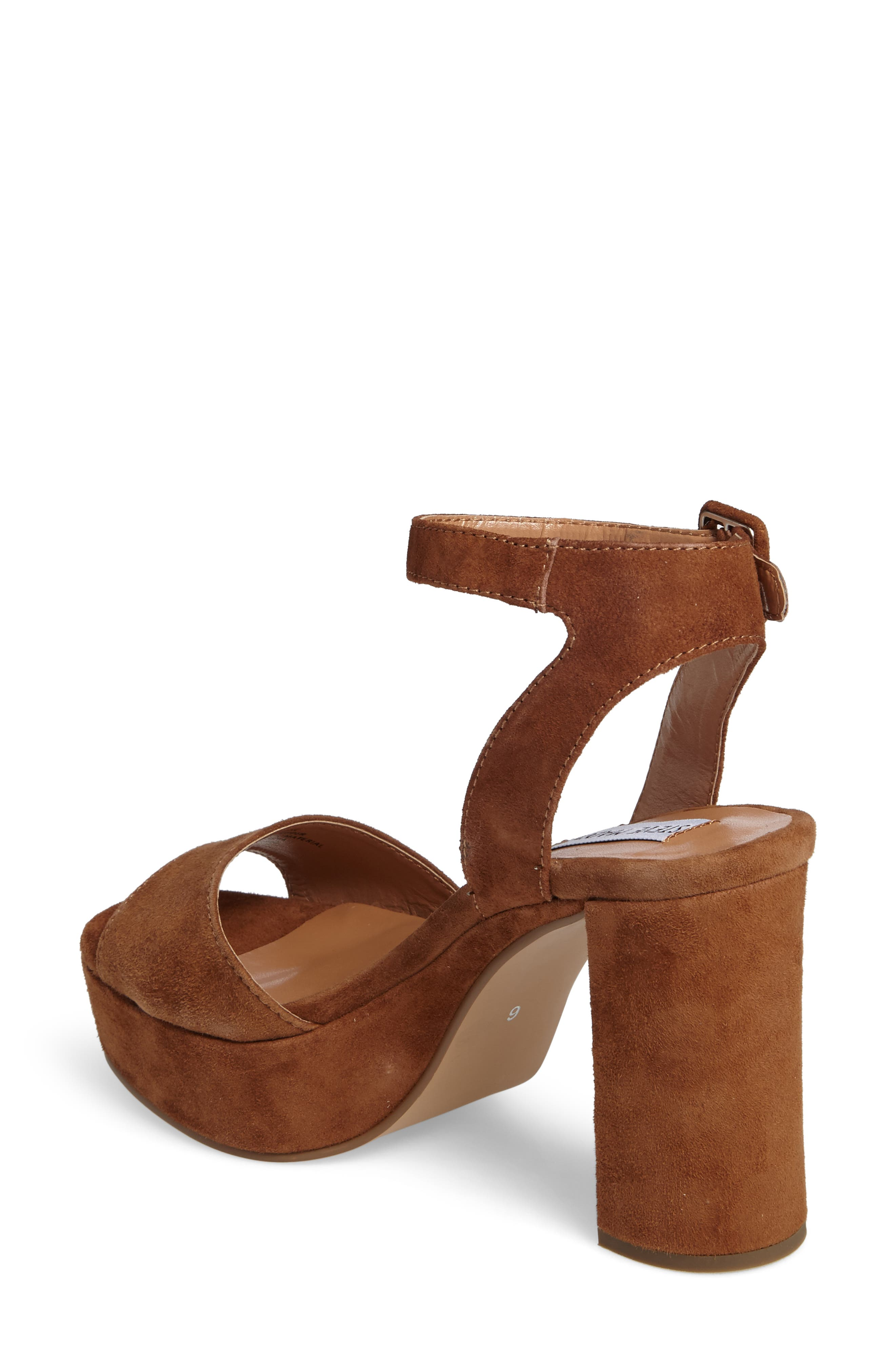Verdict Platform Sandal,                             Alternate thumbnail 2, color,                             Cognac Suede