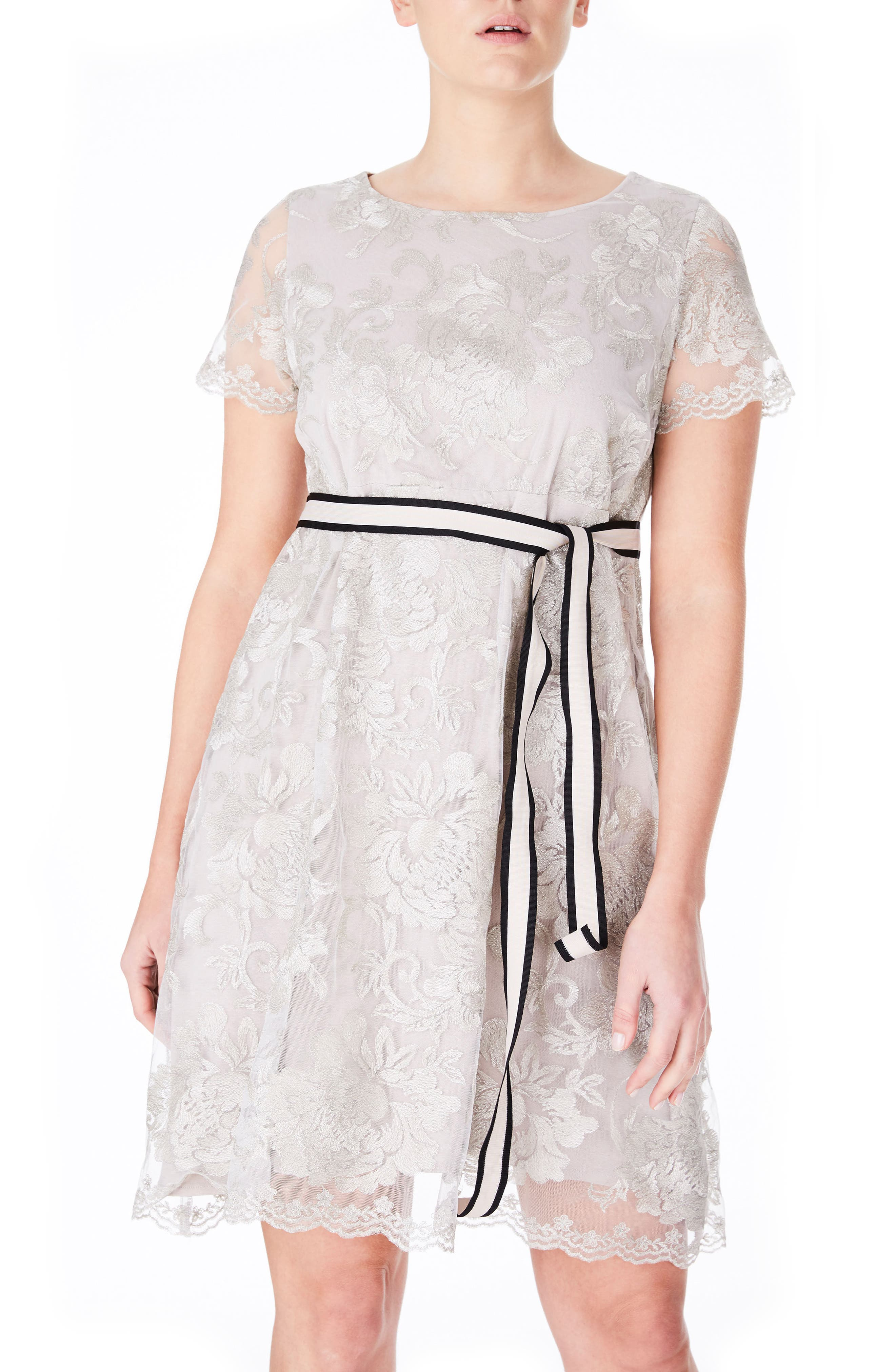 ELVI Lace Babydoll Dress (Plus Size)