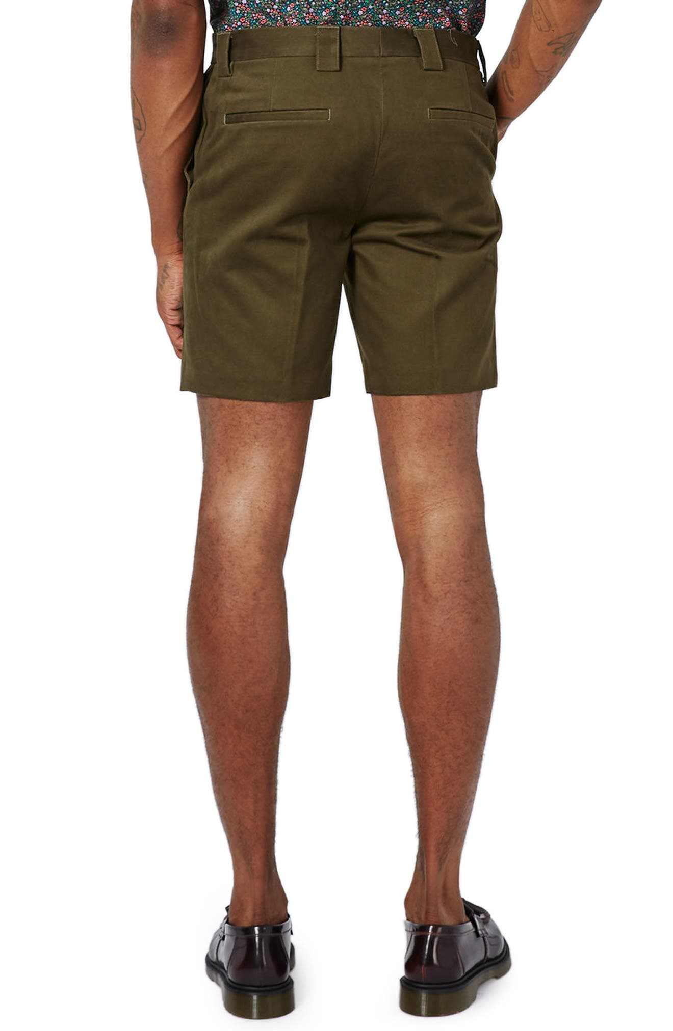 Twill Trouser Shorts,                             Alternate thumbnail 2, color,                             Olive