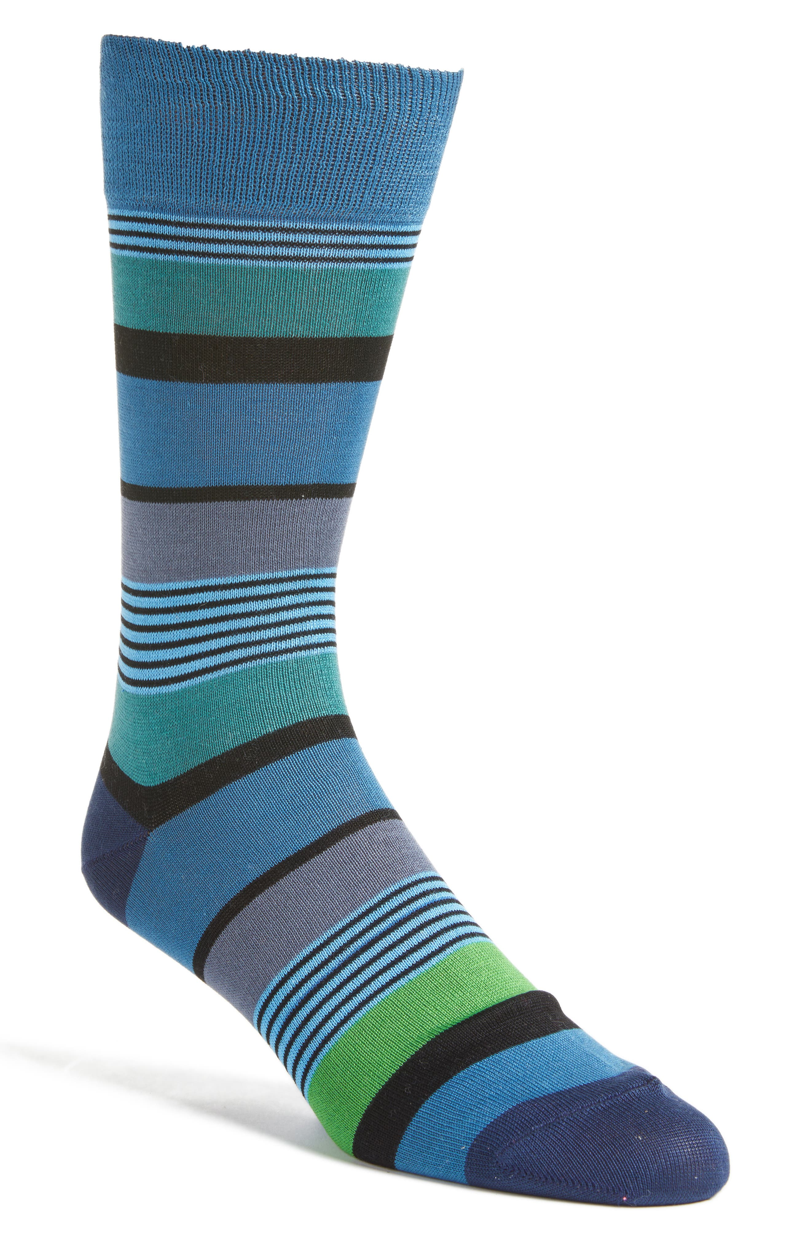 Main Image - Paul Smith Davis Stripe Crew Socks