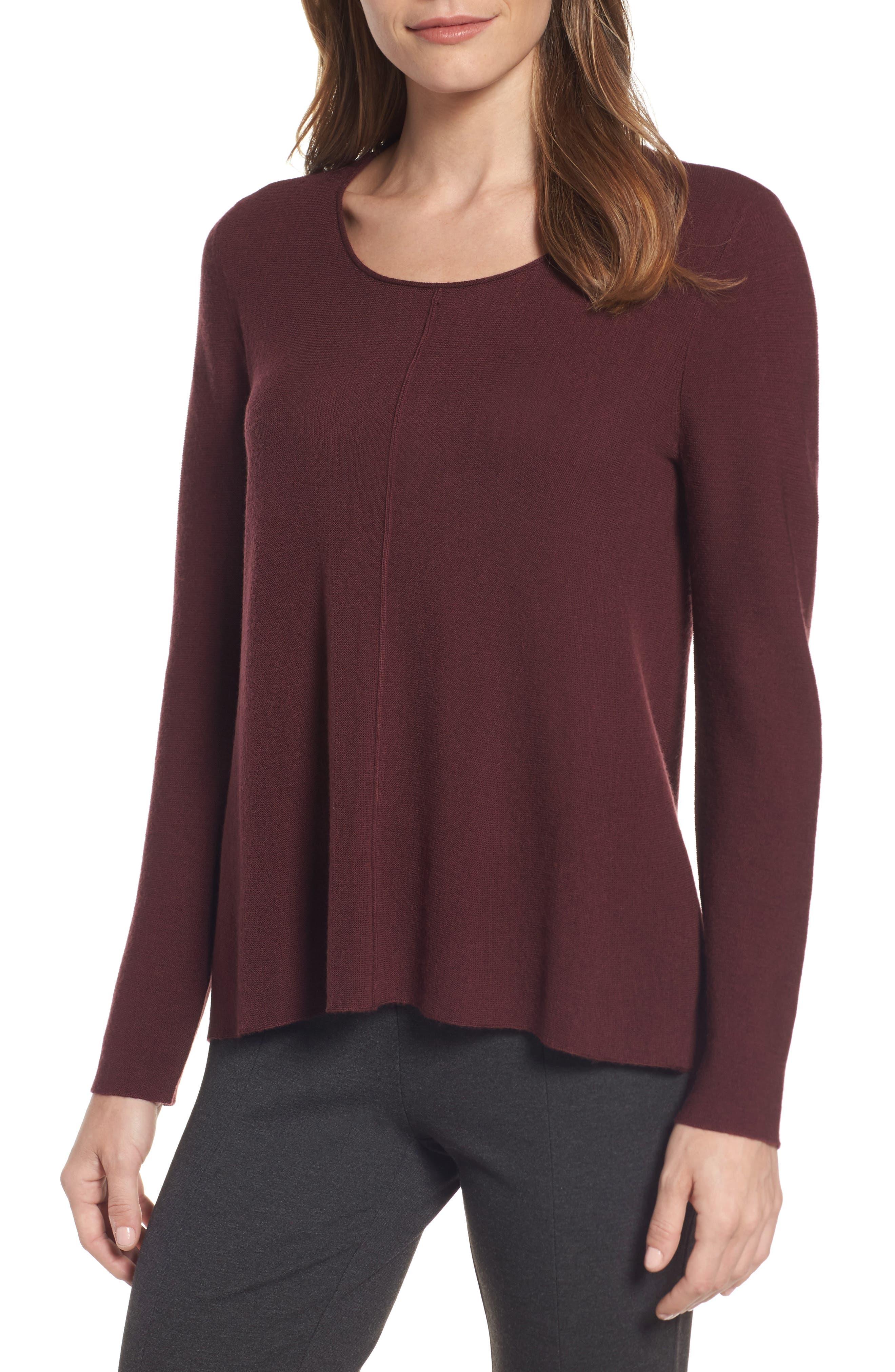 Eileen Fisher Merino Wool Pullover (Regular & Petite)