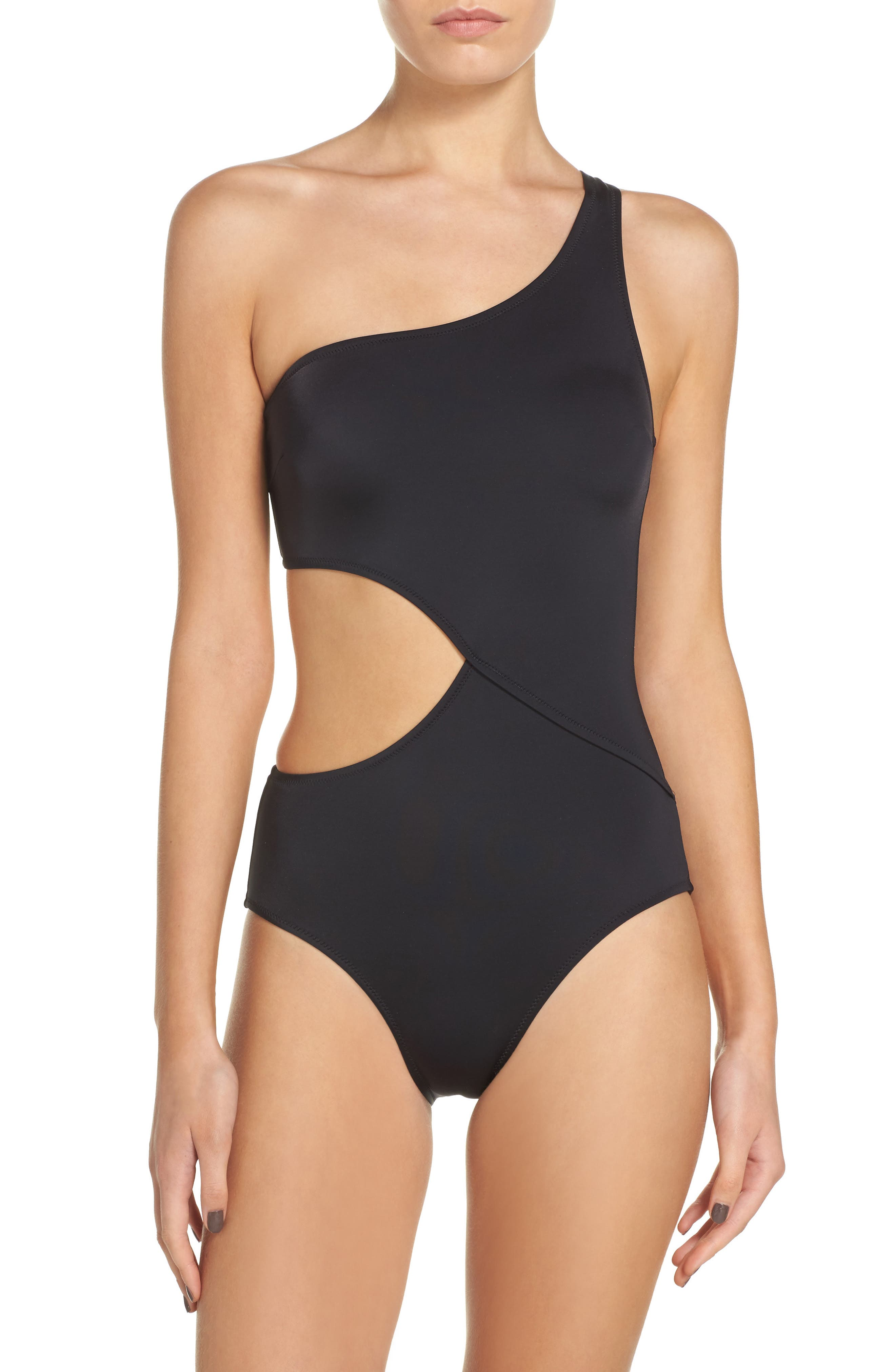 Alternate Image 1 Selected - Solid & Striped Claudia One-Piece Swimsuit