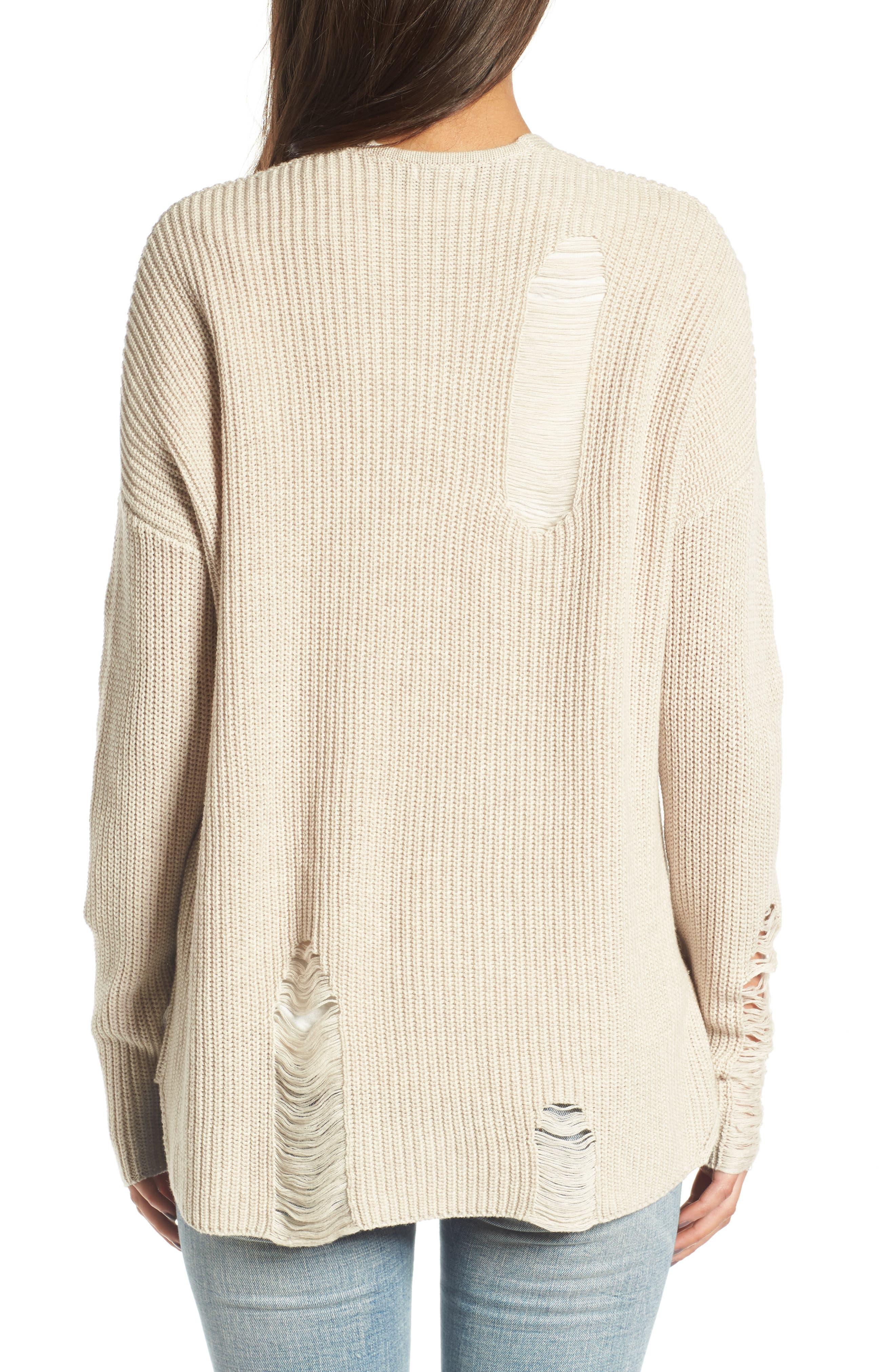 Alternate Image 2  - BP. Distressed Cotton Cardigan
