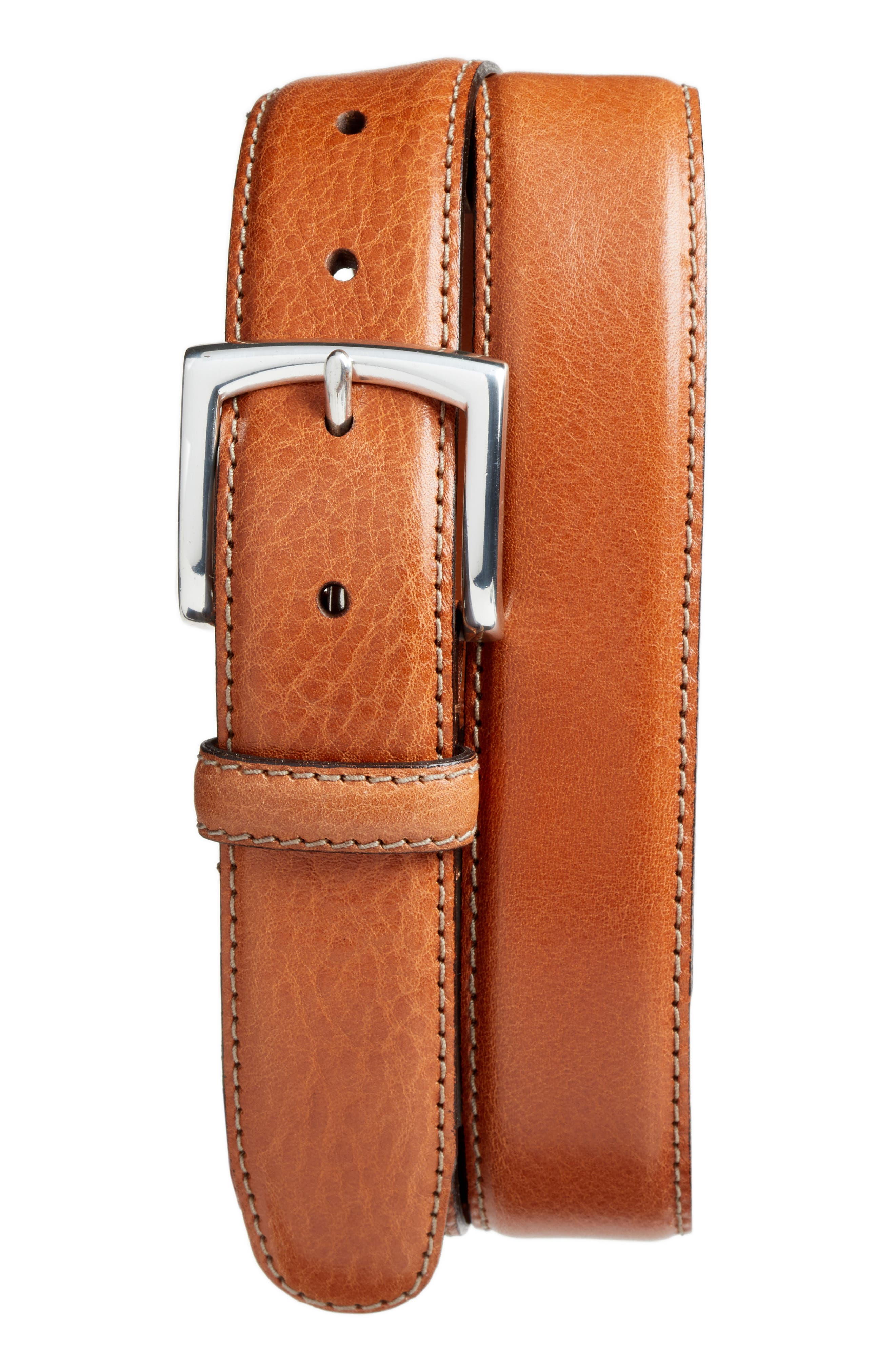 The County Line Leather Belt,                         Main,                         color, Tan