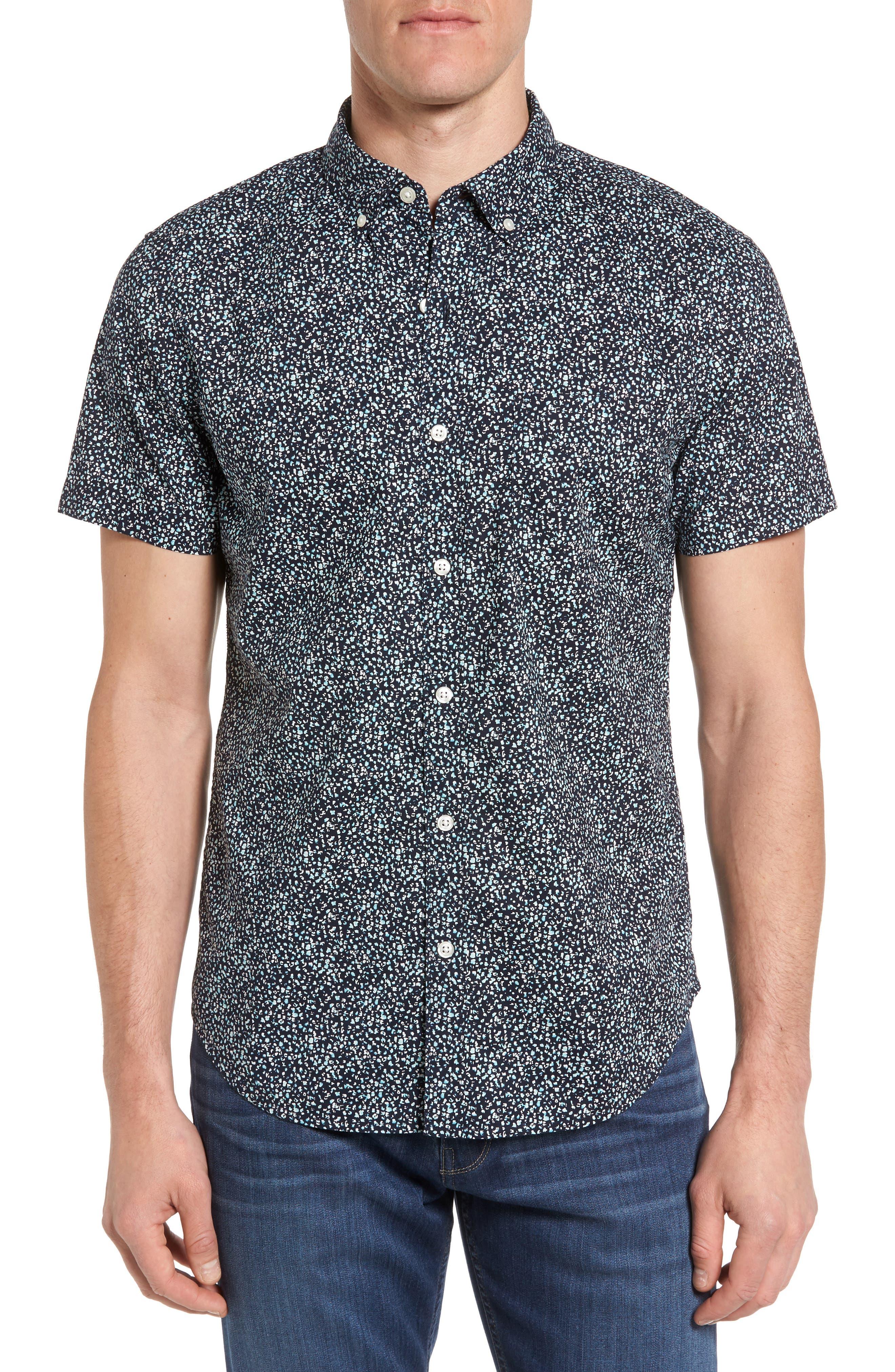 BONOBOS Slim Fit Short Sleeve Sport Shirt