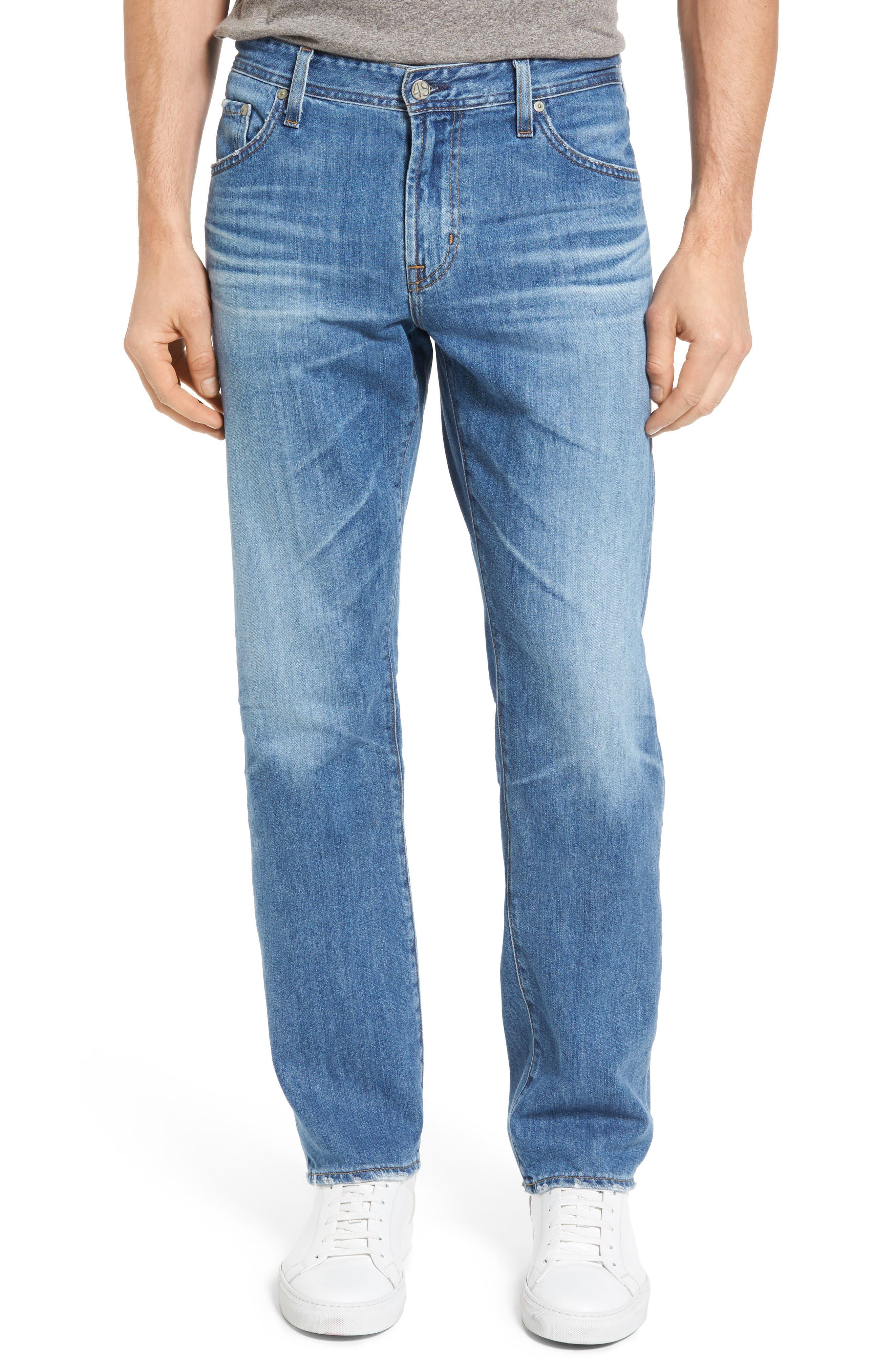 AG Graduate Slim Straight Leg Jeans (17 Years Blue Barrel)