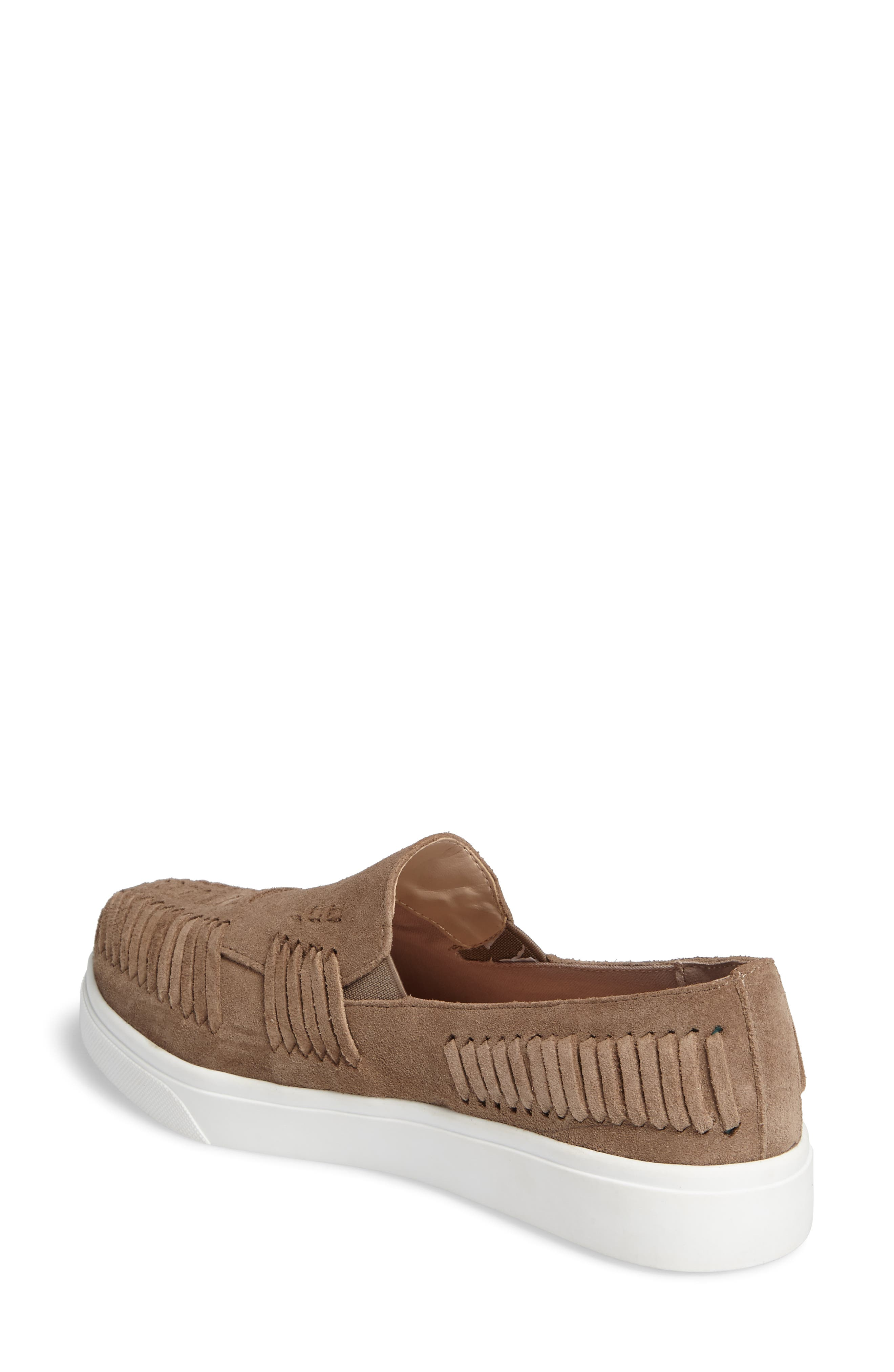 Rocco Woven Slip-On Sneaker,                             Alternate thumbnail 2, color,                             Taupe Suede