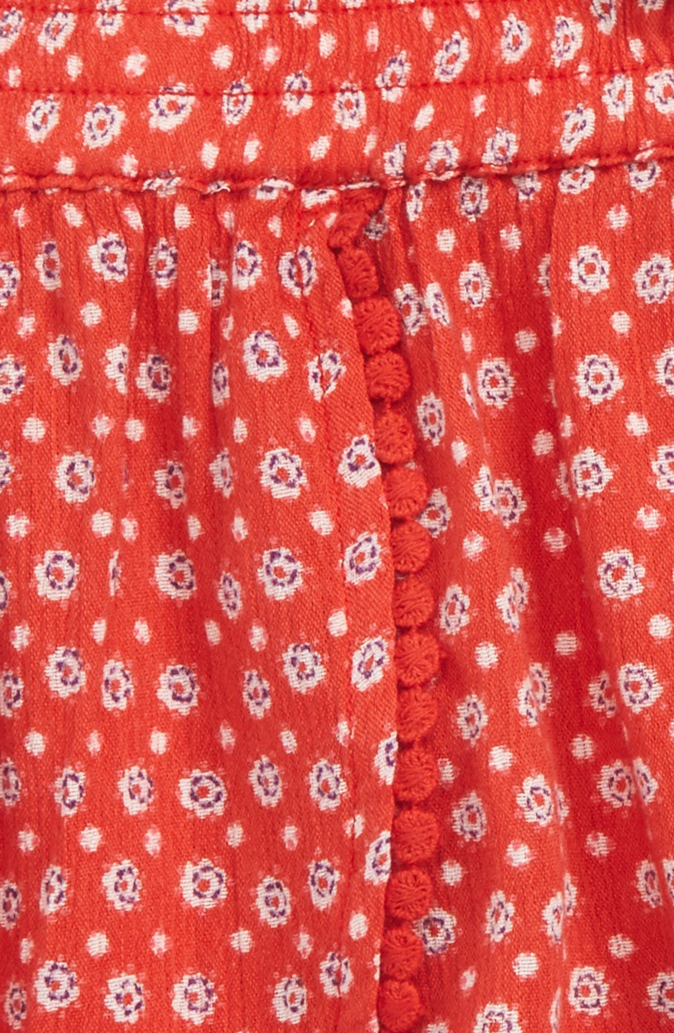 Print Shorts,                             Alternate thumbnail 2, color,                             Red Lava Spotty Floral