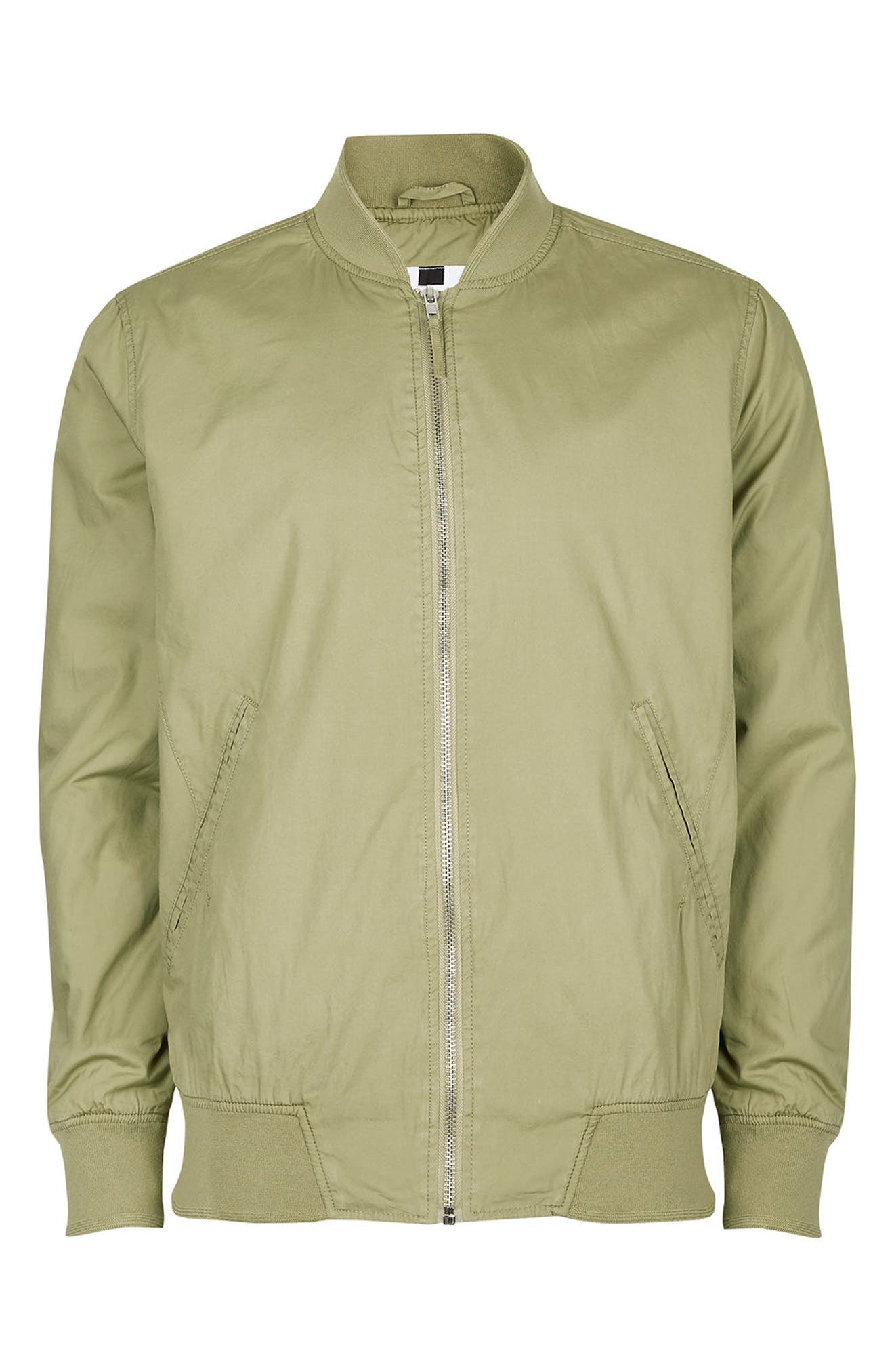Classic Bomber Jacket,                             Alternate thumbnail 5, color,                             Olive