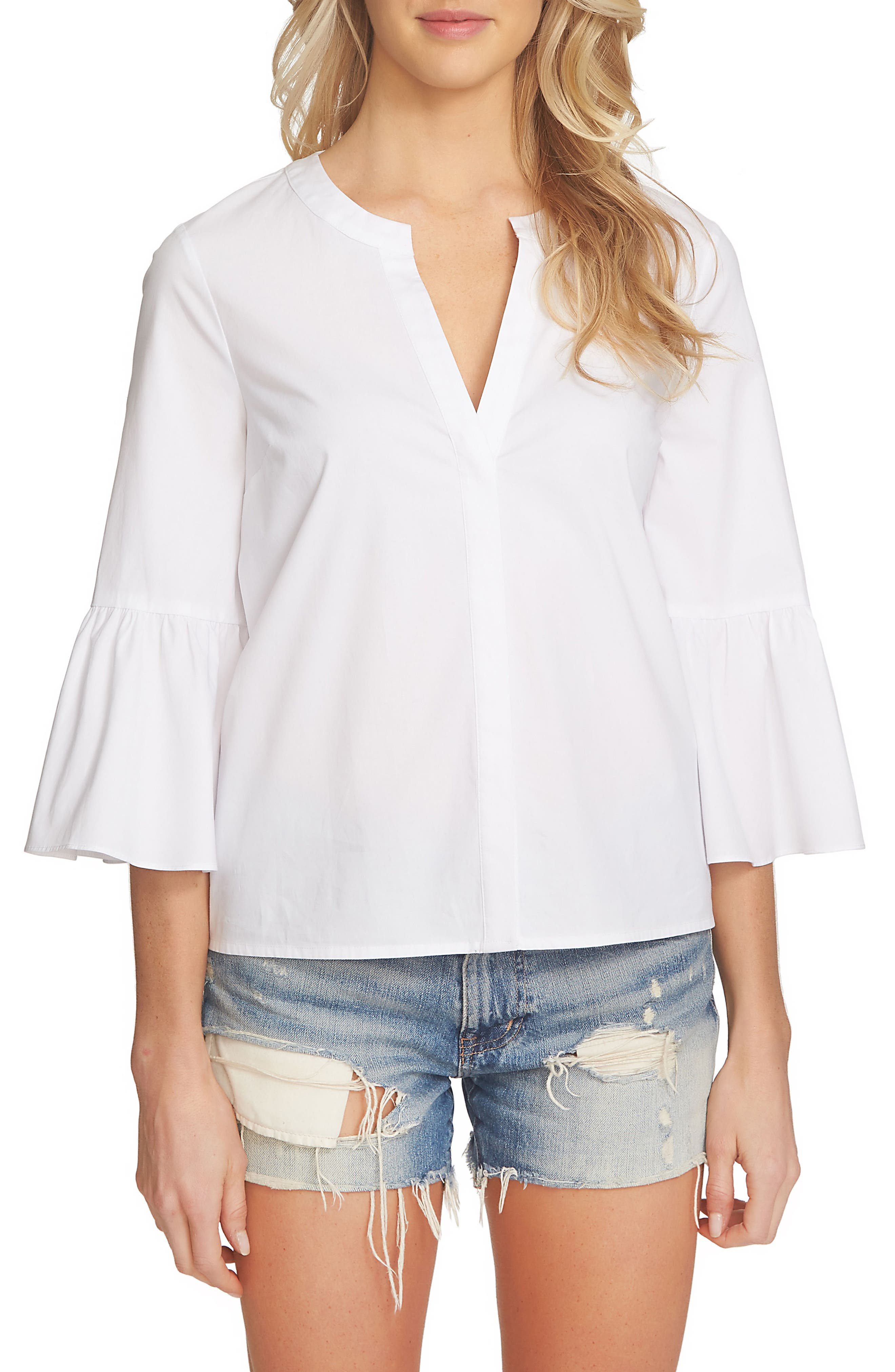 1.STATE Bell Sleeve Blouse