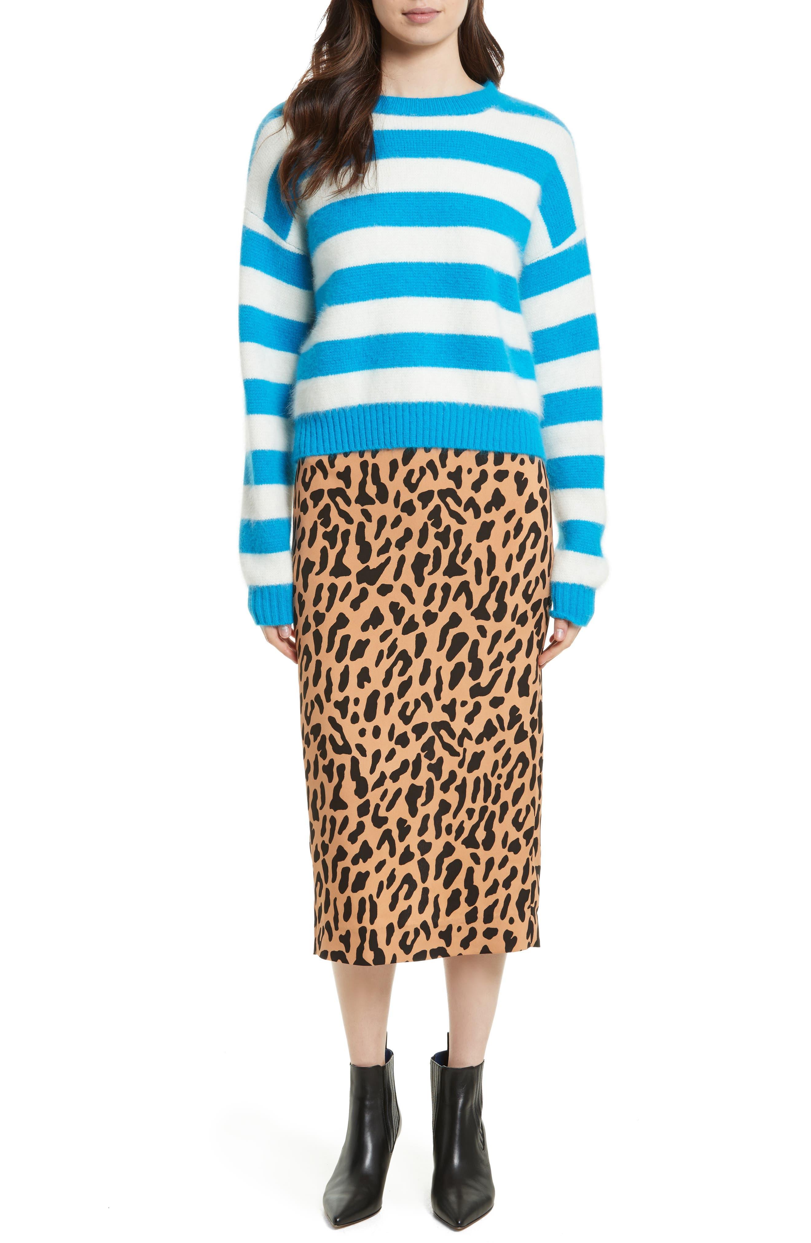 Alternate Image 2  - Diane von Furstenberg Stripe Baseball Sweater