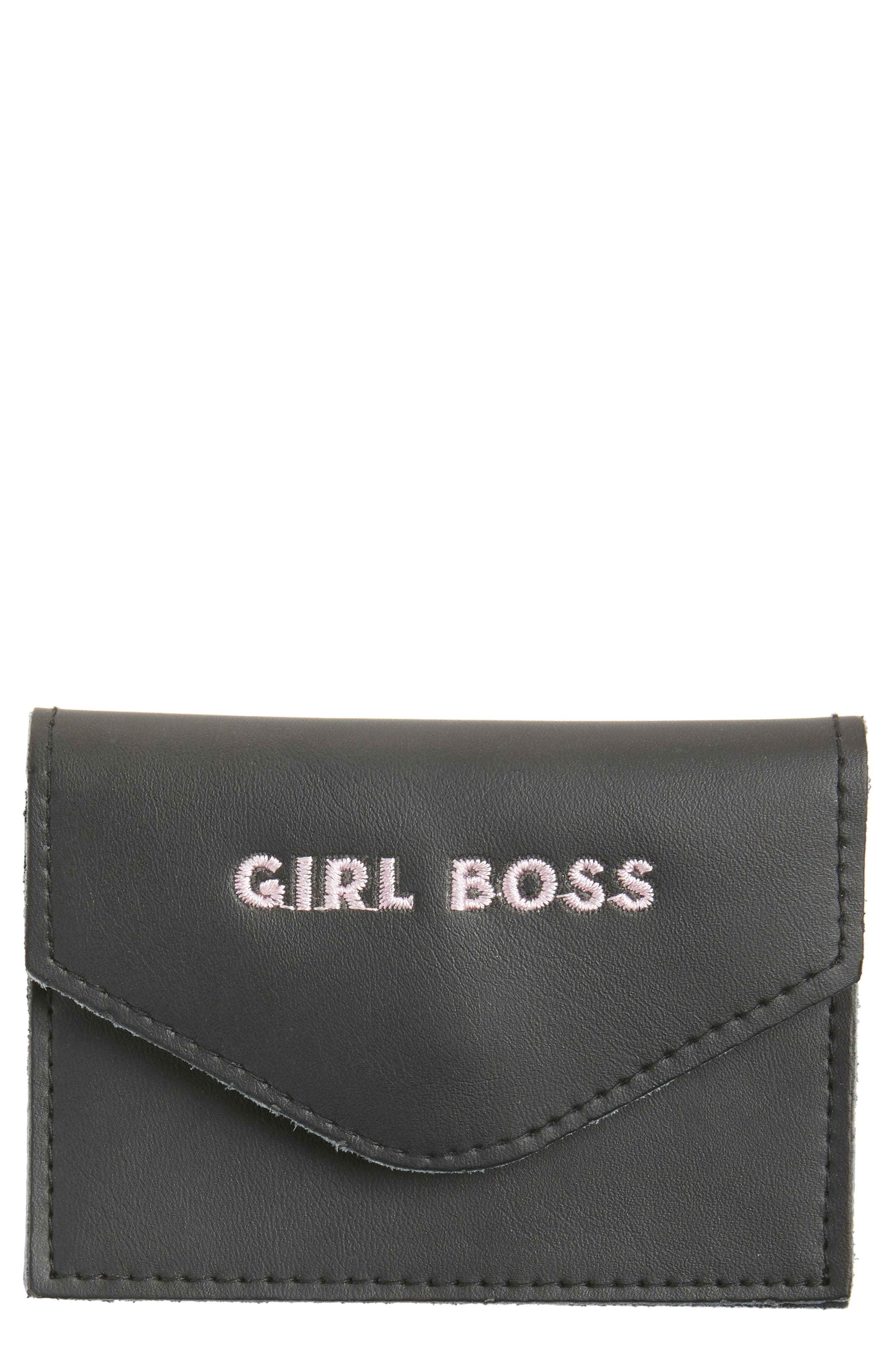 ROSANNA Girl Boss Leather Card Holder