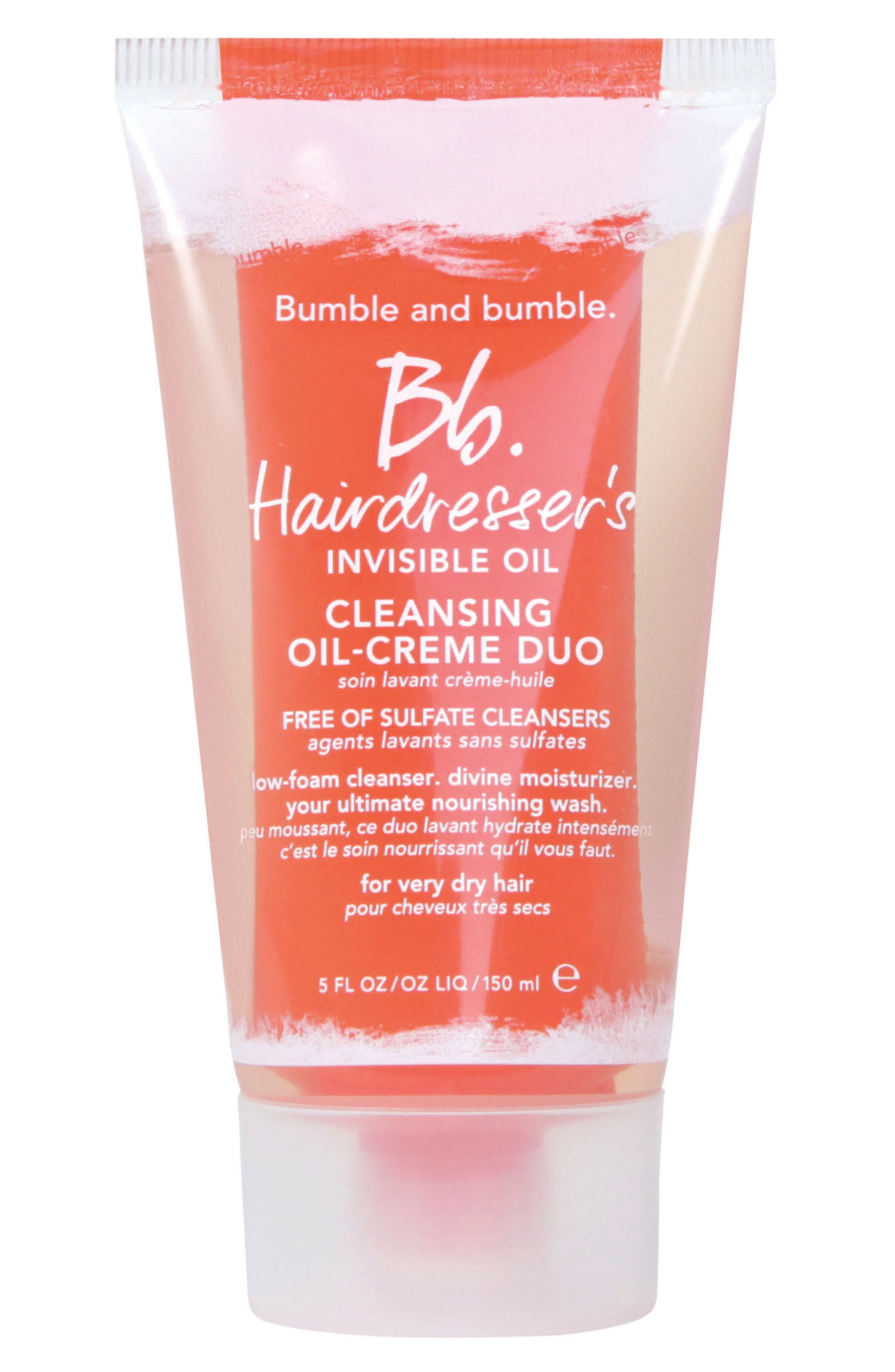 Hairdresser's Invisible Oil Cleansing Oil-Creme Duo,                             Main thumbnail 1, color,                             No Color