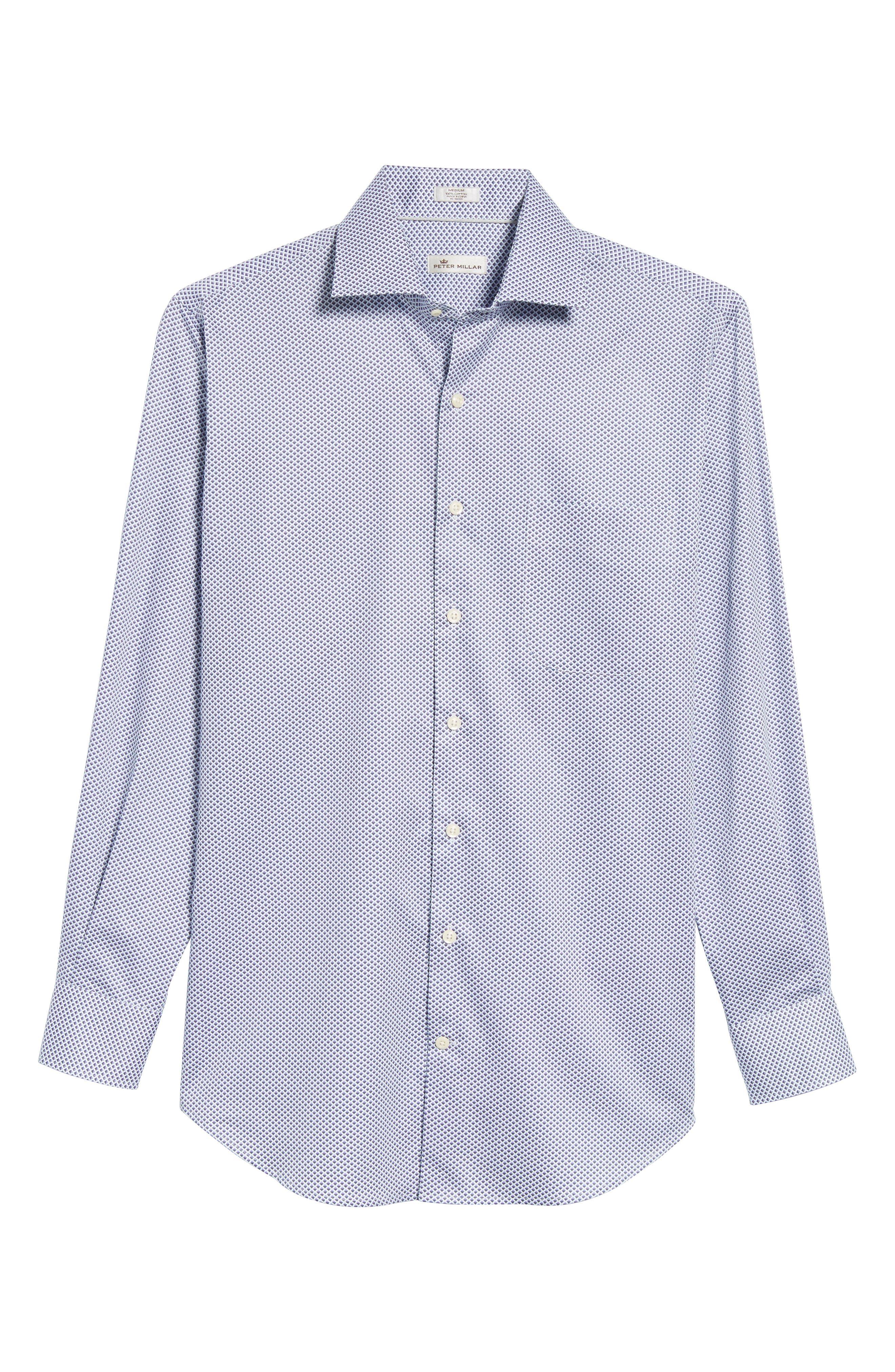 Alternate Image 6  - Peter Millar Geometric Horizon Sport Shirt
