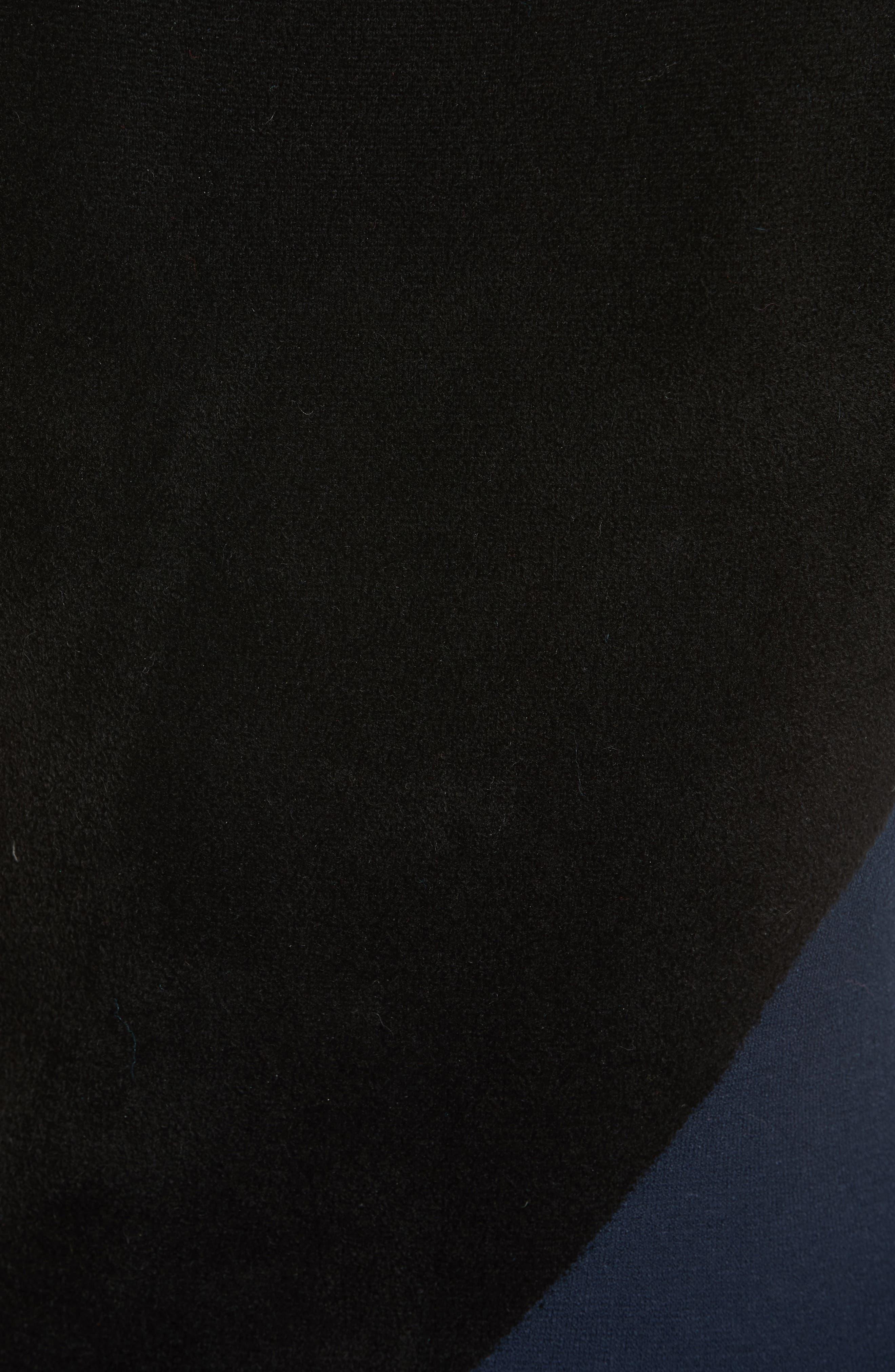Body-Con Knit Maxi Dress,                             Alternate thumbnail 5, color,                             Black/ Deep Violet